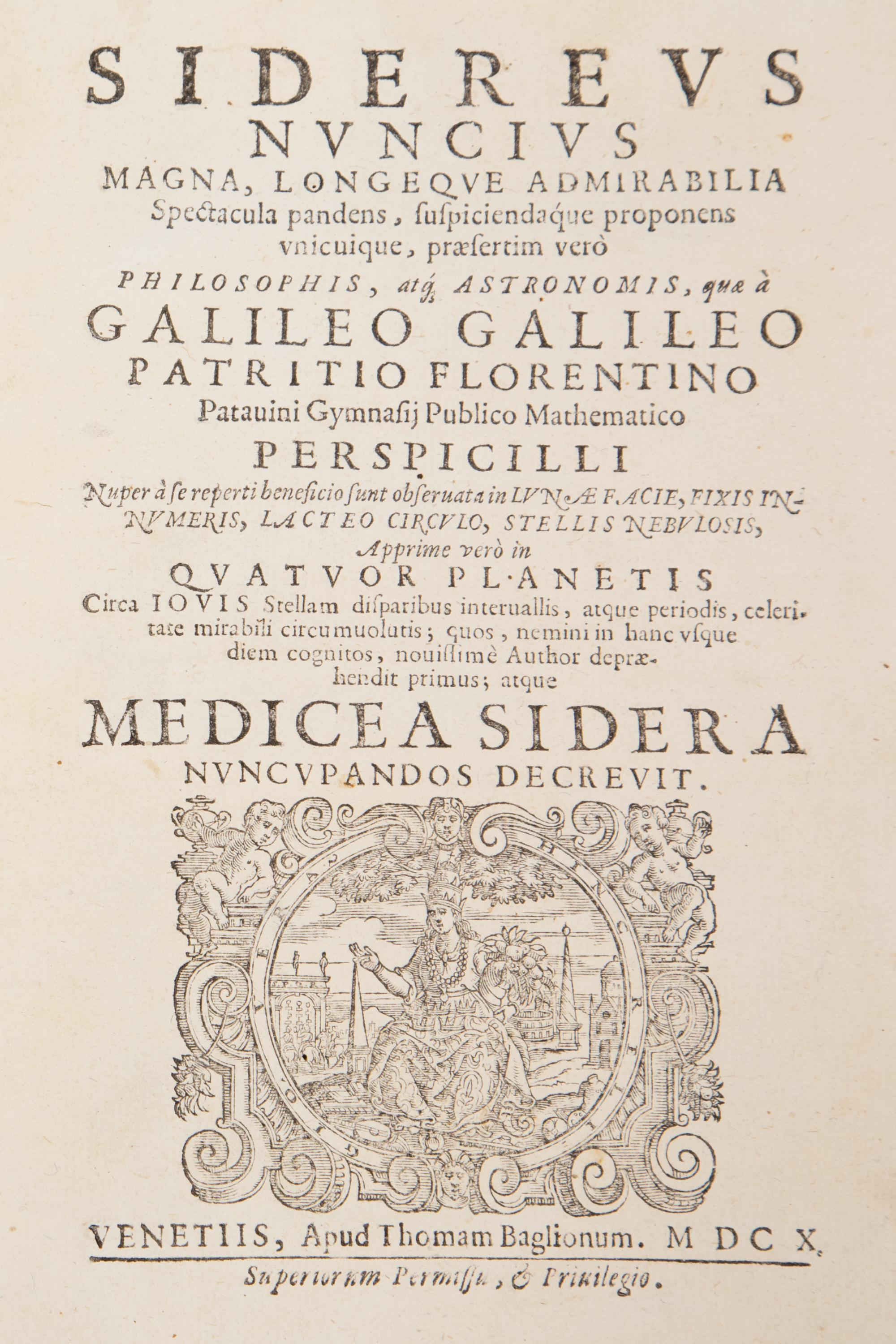 "Galileo Galilei's ""Sidereus nuncius magna"" was published in 1610. Galileo rushed the production, which resulted in a few errors. UA's Special Collections holds one of the books carrying text corrections."