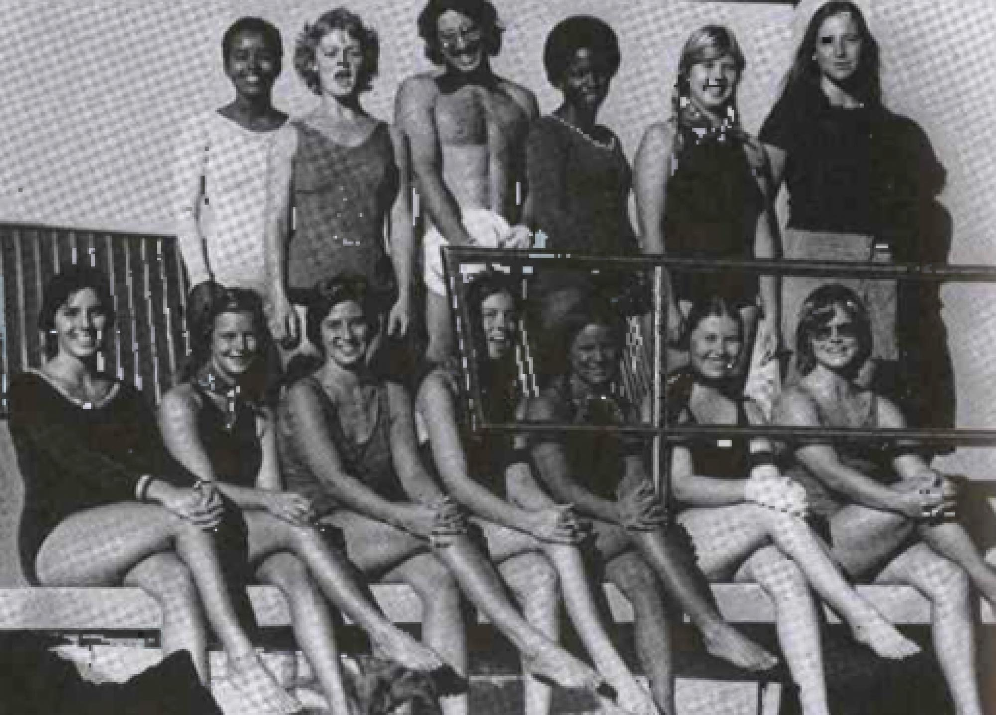 The UA synchronized swimming team during the 1975-76 academic year.