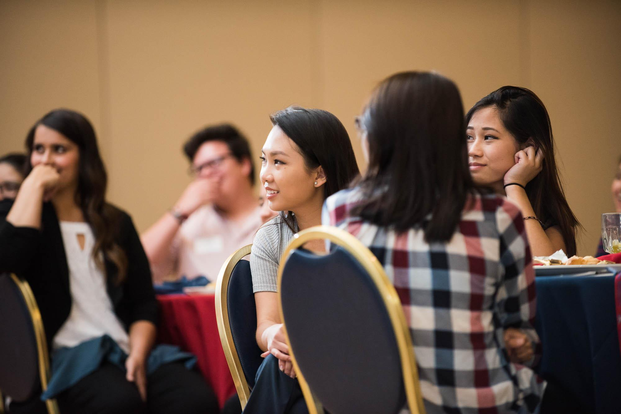 Students had a chance to develop their networking skills and make contacts for the future during the event, sponsored by the UA Alumni Association.