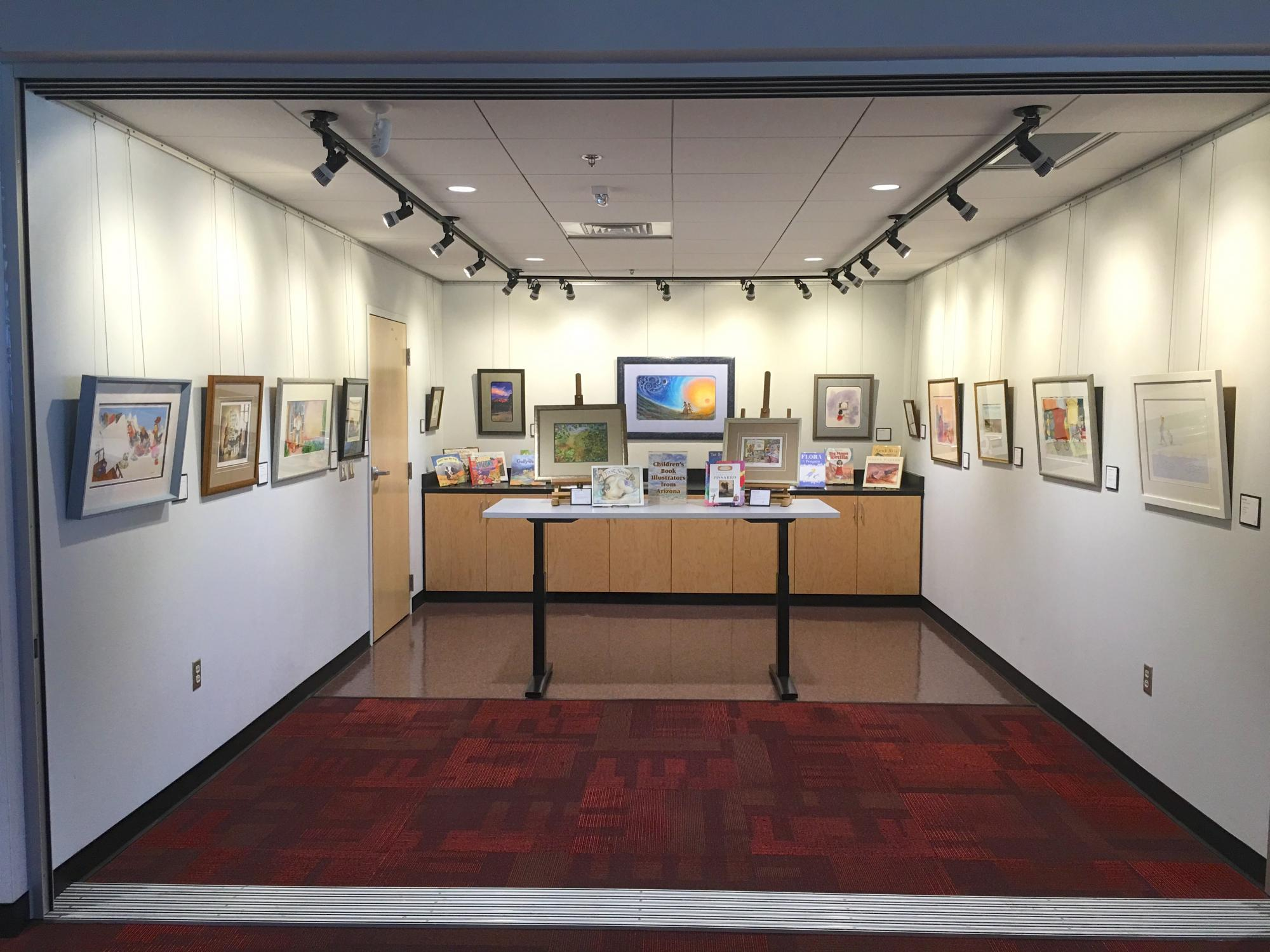 The Worlds of Words Art Studio, in the Education Building, rotates displays of original art from picture books centered on a theme.