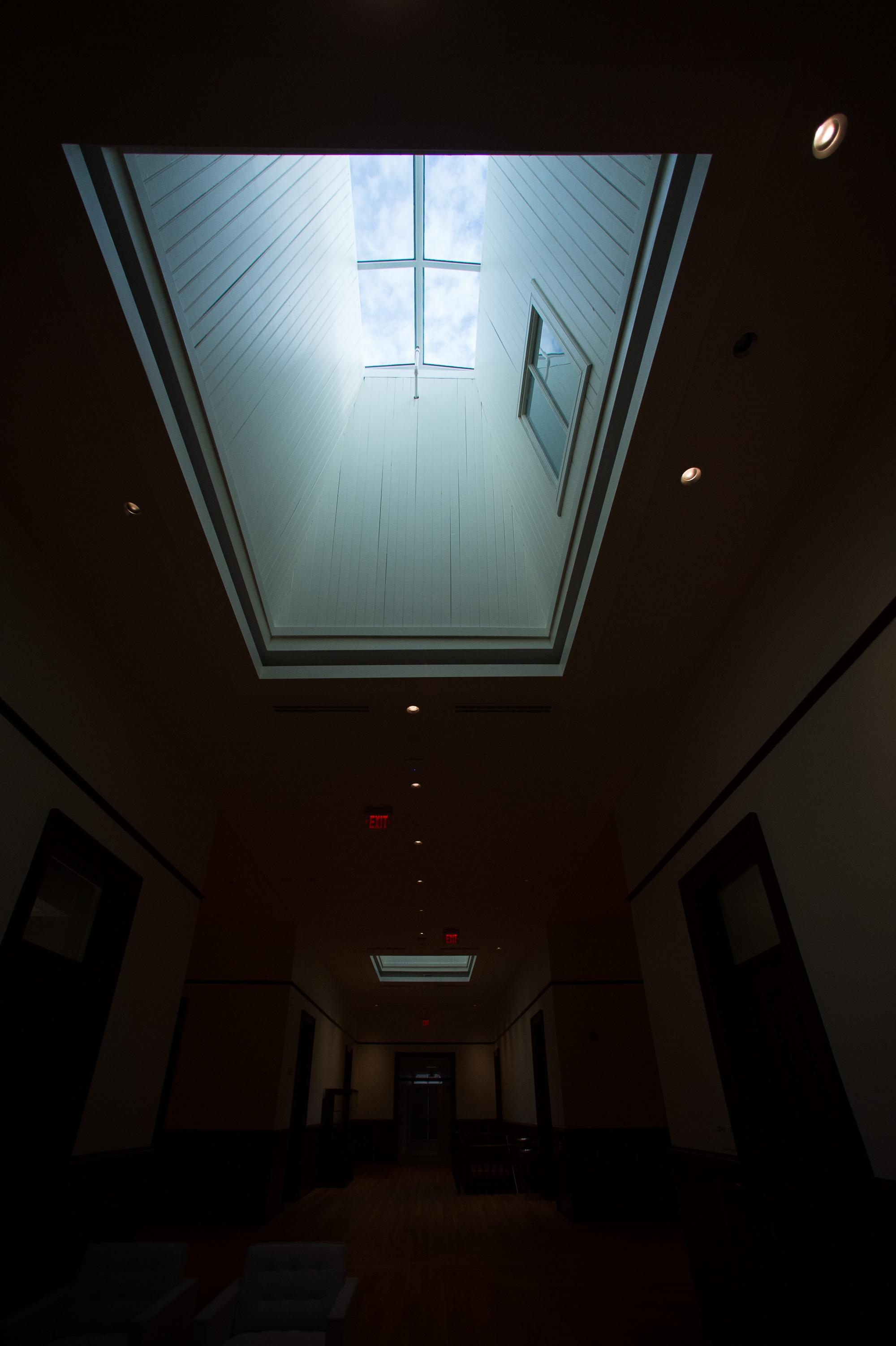 Natural light still enters the building from above.