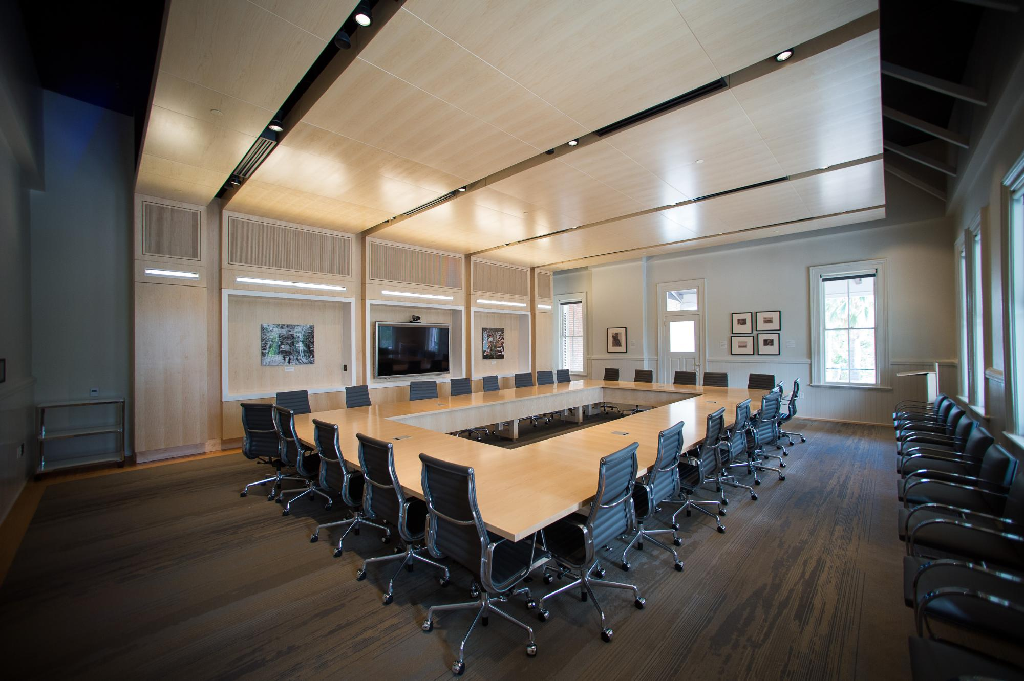 New meeting and conference room spaces have been introduced.