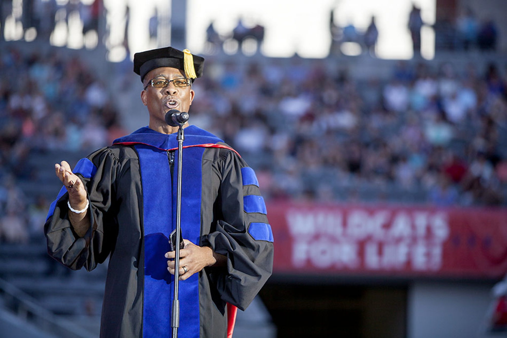 Bryan Carter, an associate professor of Africana studies, addressed the graduates during a segment called Final Office Hours.