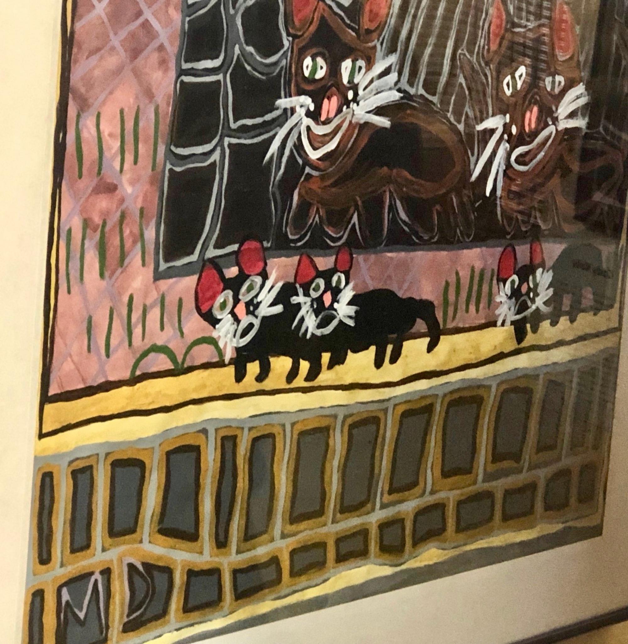 """Kitties Are Playing in Bridge Stone House,"" by Miranda Delgai"