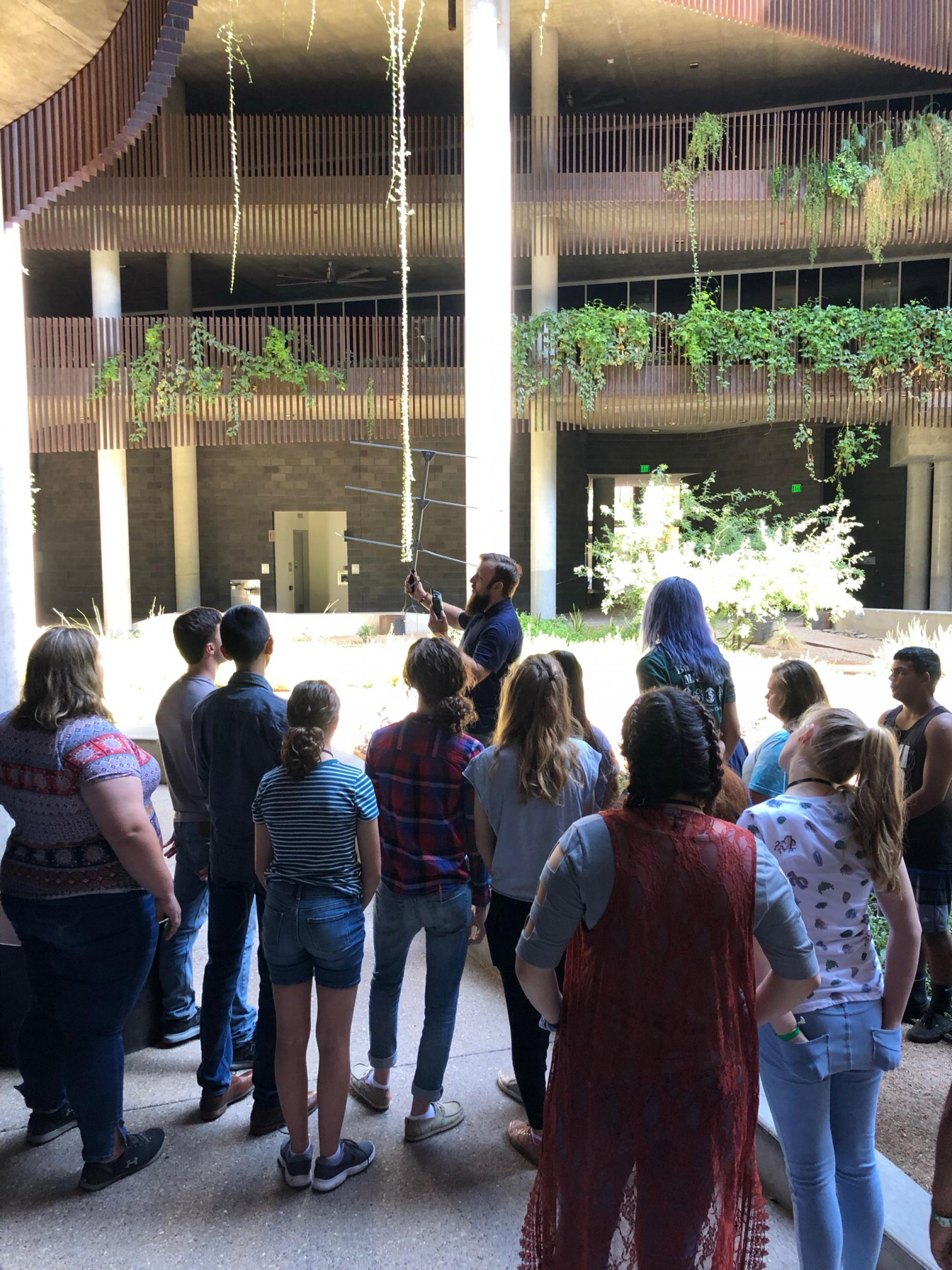 4-H Summit participants learned the basics of telemetry with help from students and faculty in the School of Natural Resources and the Environment.