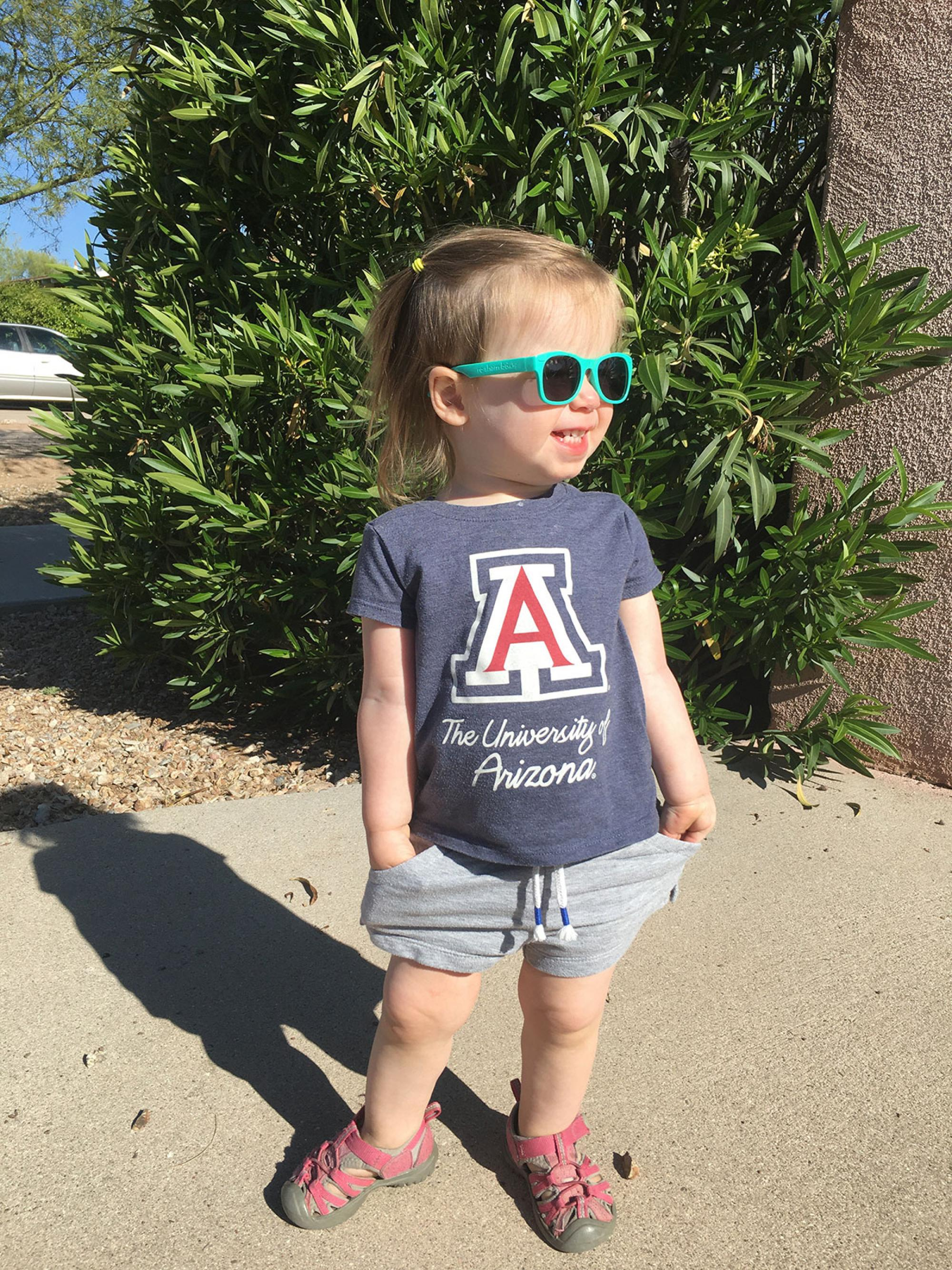 Future Wildcat, class of 2040: My daughter's name is Irene Tenen. She is 21 months old. My wife took this photo, which we think is amazing – what parent wouldn't? – David Tenen, human resources specialist, Workforce Systems