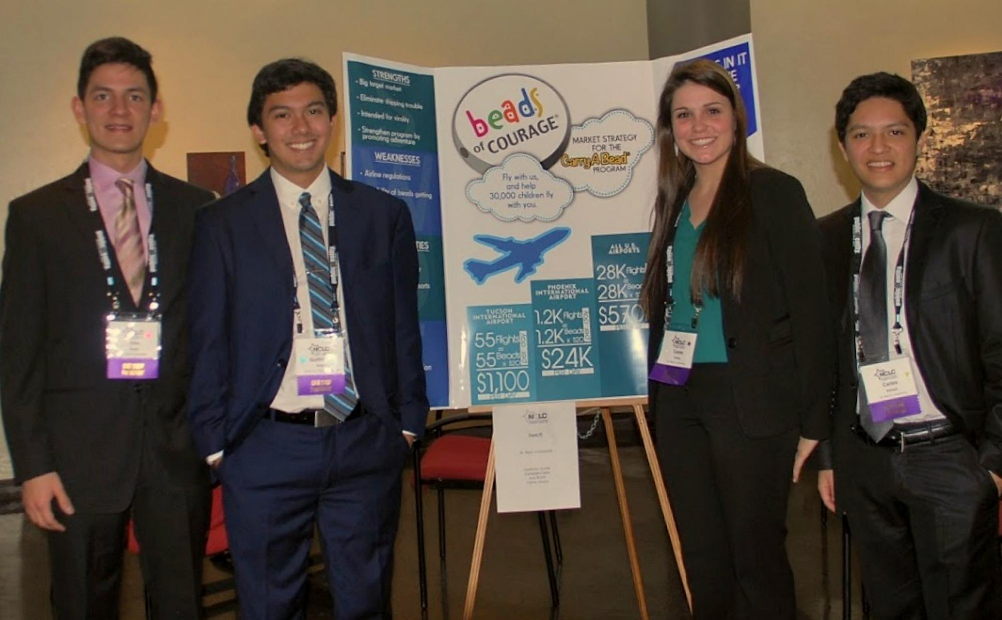 Students present their projects during the conference.