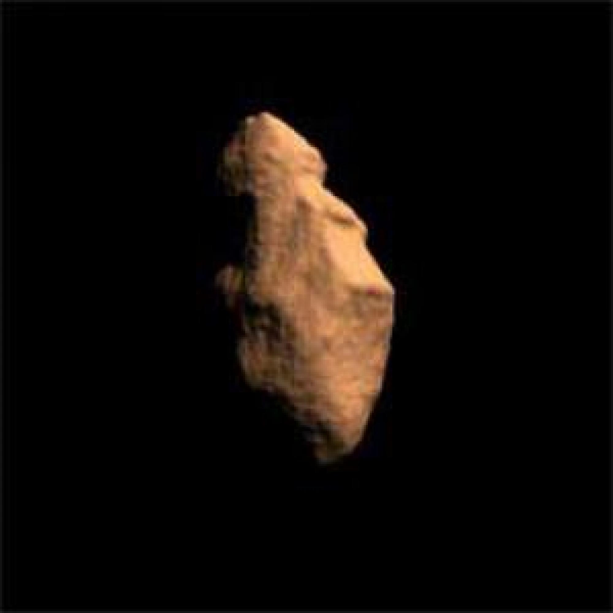 Artist's concept of asteroid 4179 Toutatis, which came within 961,000 miles of Earth in 2004.