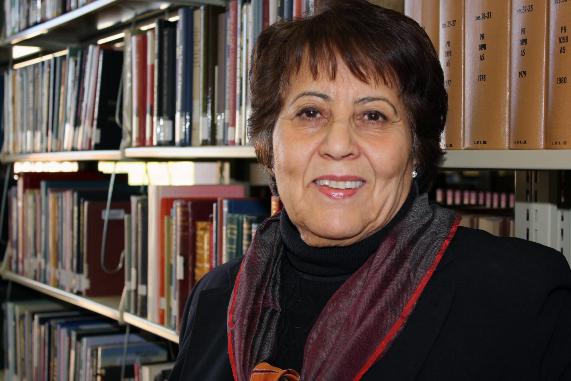 Atifa R. Rawan, a UA librarian who was born and raised in Afghanistan, started helping academic libraries in her native country in April 2001. Rawan said her work would not be possible without the visionary support of UA Libraries Dean Carla Stoffle and h