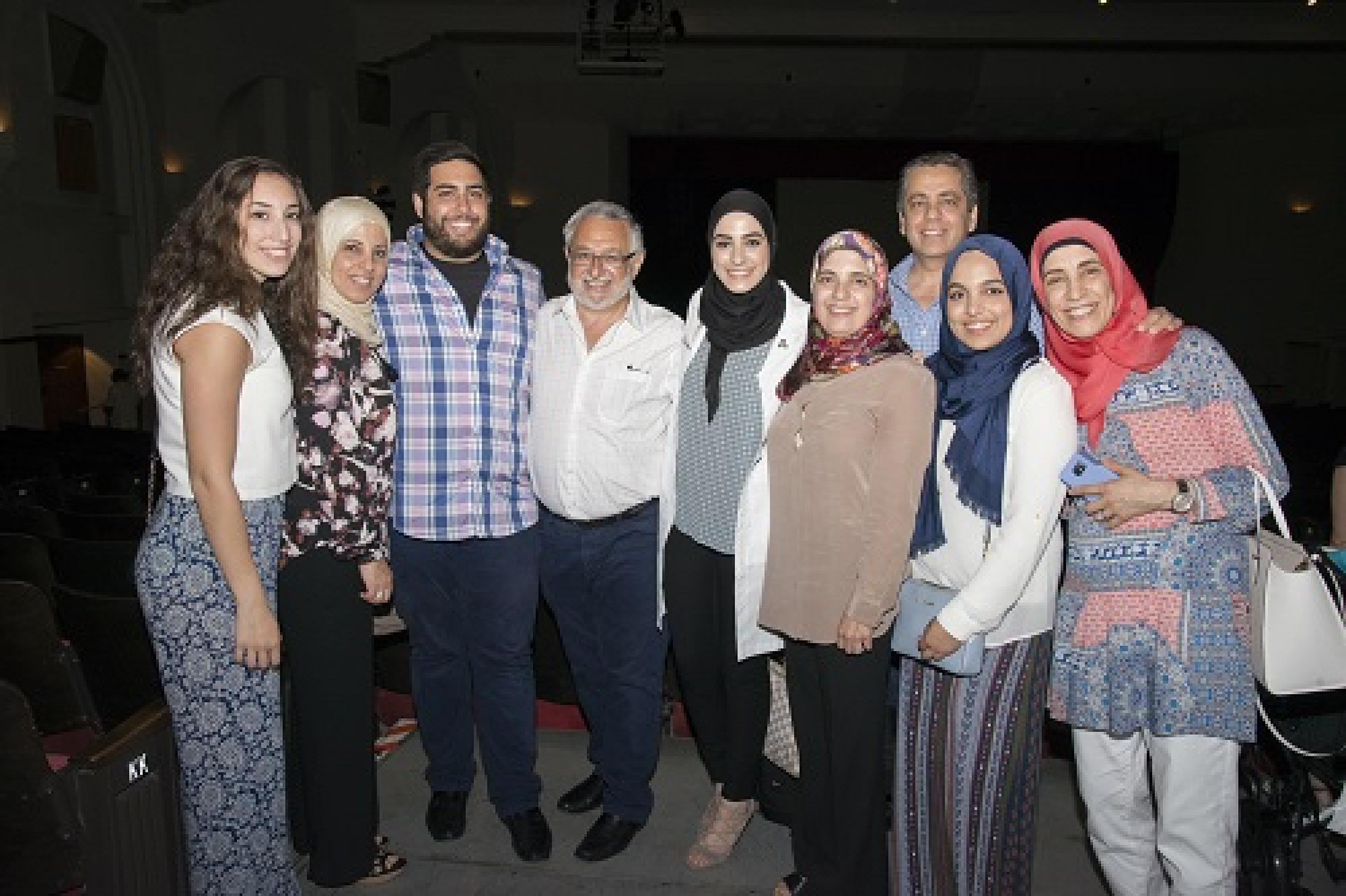 Mariam Astarabadi celebrating with family.