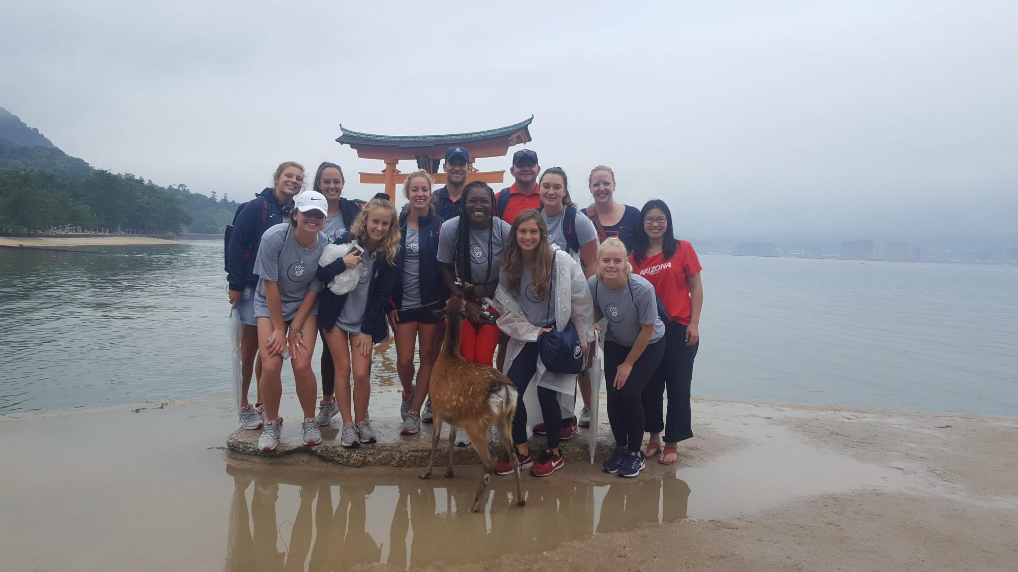 The UA women's tennis team added a study abroad component to their trip to Japan last summer.
