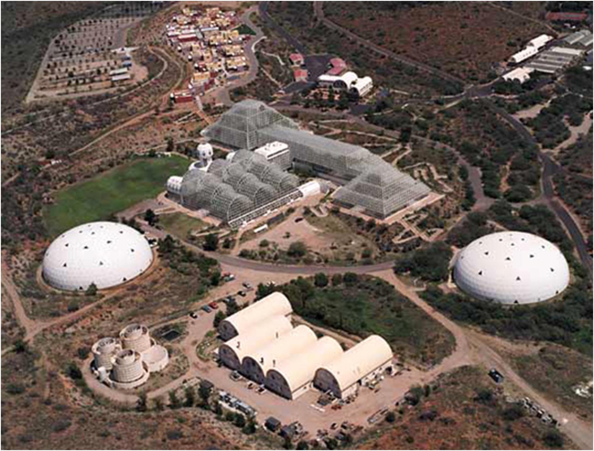 Biosphere 2, an overhead view