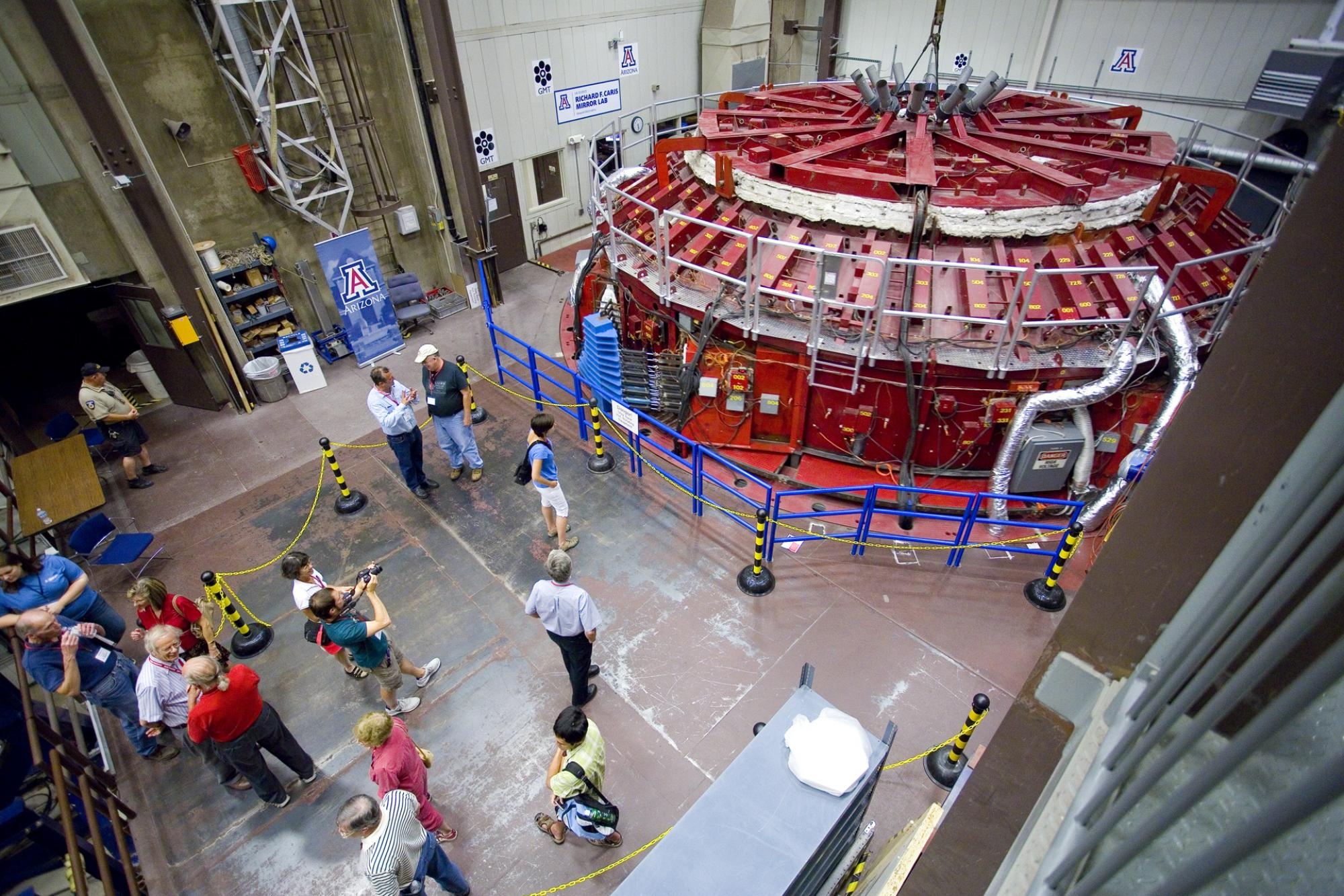 The mirror lab is currently casting the fourth  mirror for the Giant Magellan Telescope, a project scheduled to be completed in 2021.