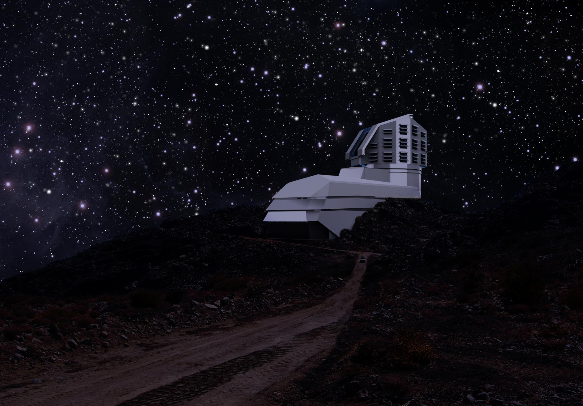 Located in the foothills of the Andes Mountains in Chile, the Large Synoptic Survey Telescope will photograph the entire Southern Hemisphere of the sky every three days for ten years beginning in 2022.
