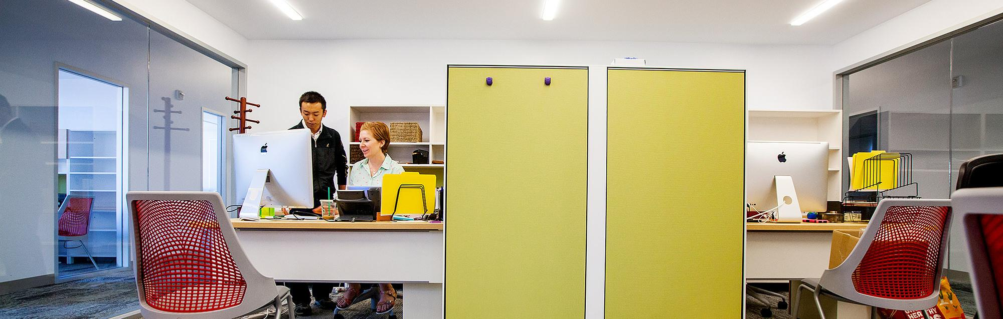 ENR2 has an intentional lightness, which is meant to encourage employee wellness and productivity.