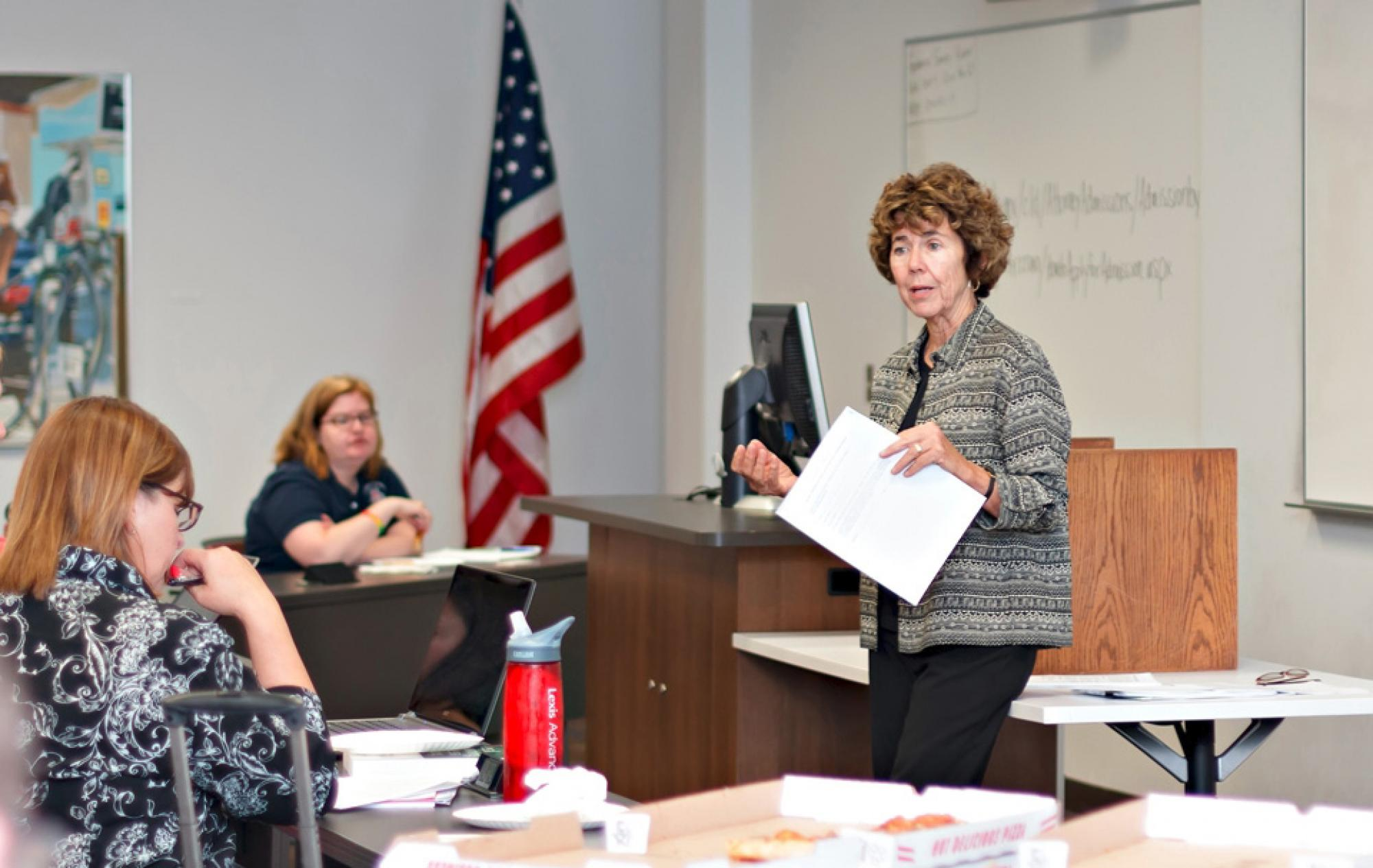Barbara Atwood, professor of law emerita, helped UA law students prepare an amicus brief for the Arizona Supreme Court.