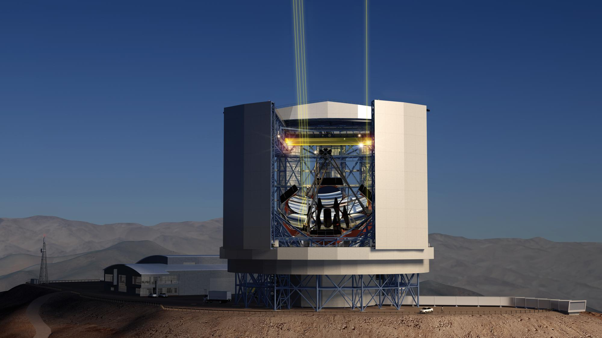 Once completed atop El Cerro Campanas in Chile's Atacama Desert, the Giant Magellan Telescope will use its higher-than-Hubble resolution power to solve some of the most pressing astronomical questions, including the search for planets that might harbor li