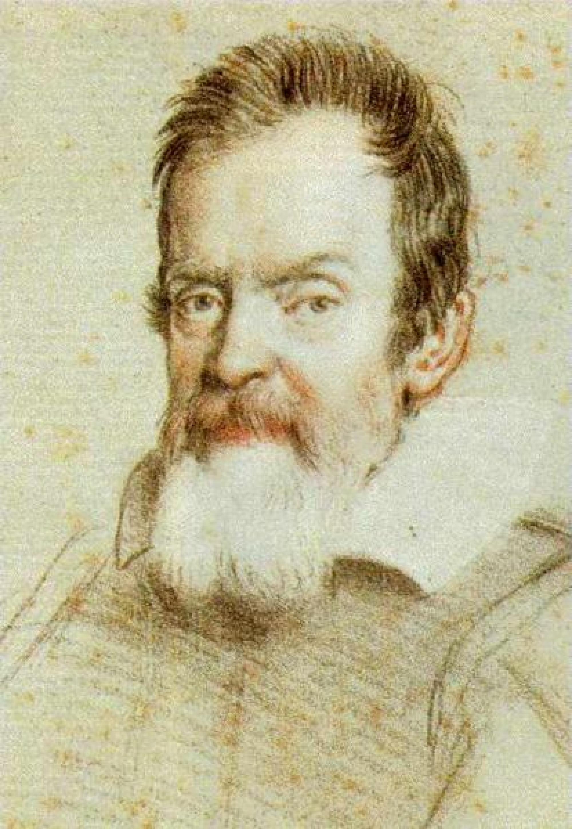 CLICK TO ENLARGE IMAGE. Portrait of Galileo by Italian Baroque era printmaker and painter Ottavio Leoni, 1624.