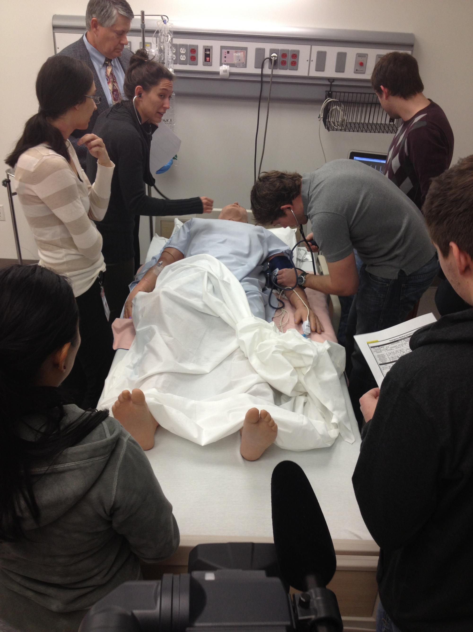 The simulation lab is an integral step in preparing students for the medical field.
