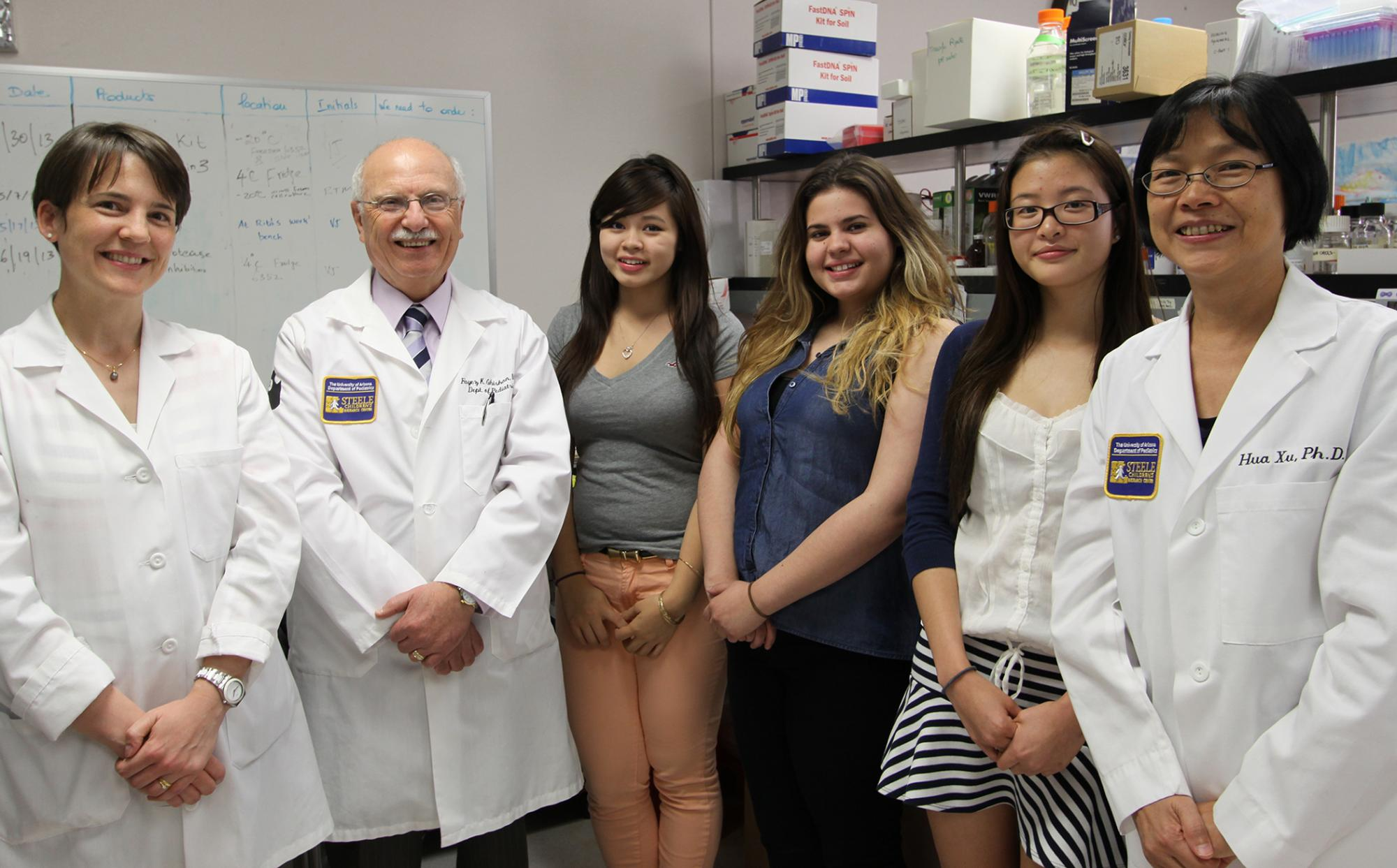 """The UA Steele Children's Research Center received a 5-year research education grant, the """"Summers in Children's Research for Diverse High School Students,"""" to mentor and train high school students."""