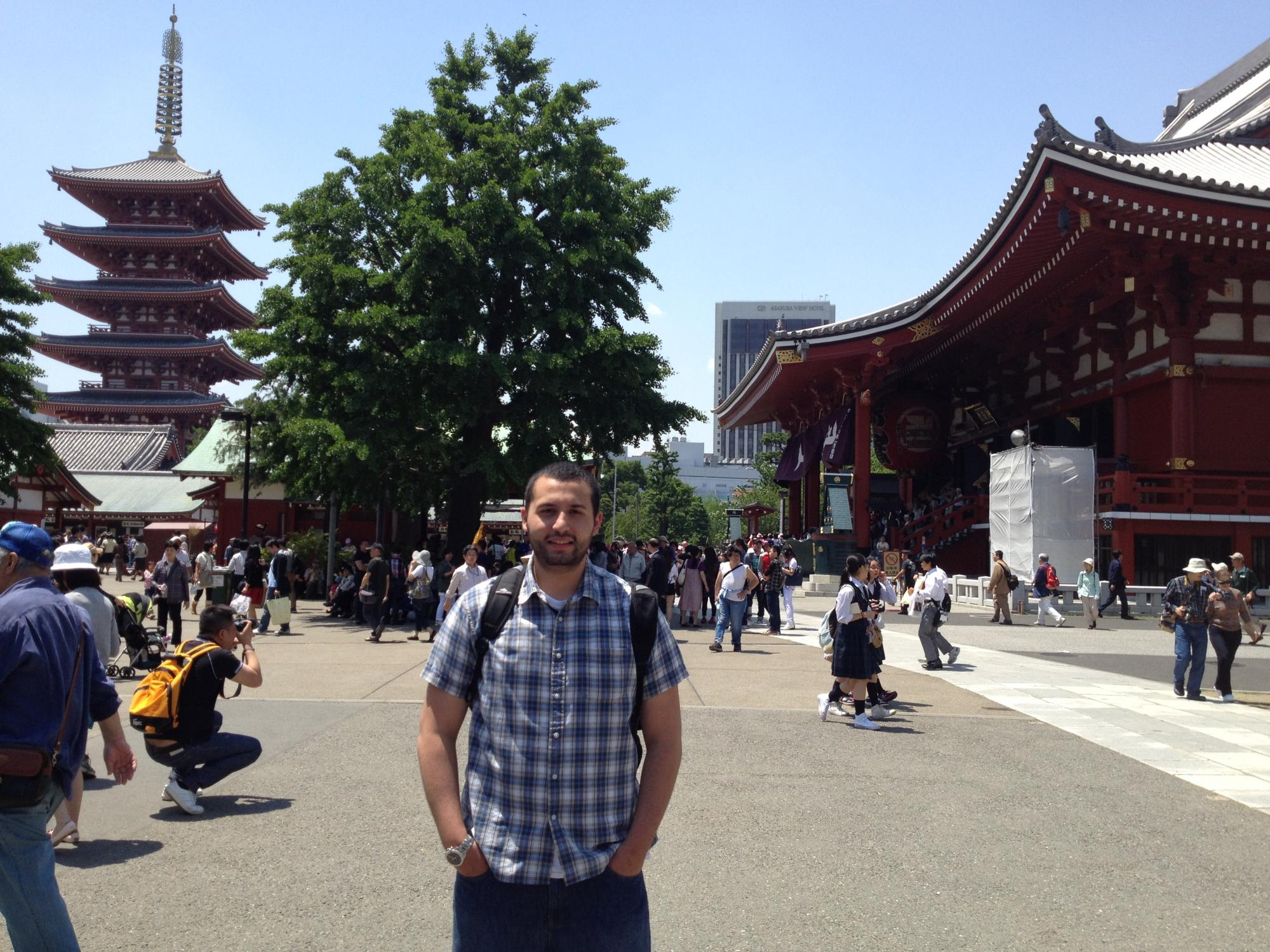 Amer Taleb in Japan, as part of the Roy Howard Fellowship where he visited with members of the Wall Street Journal and the Associated Press.