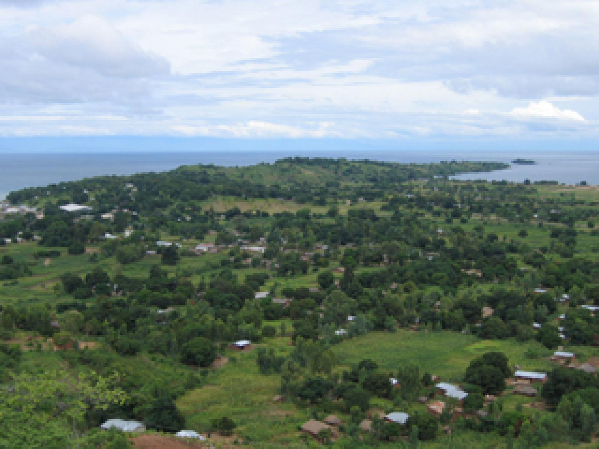Lake Malawi, one of Africa's Great Lakes, is at 2,316 feet  one of the deepest lakes in the world. Although the lake is surrounded by lush tropical vegetation now, during the megadrought period 135,000 to 90,000 years ago, the region would have been semi