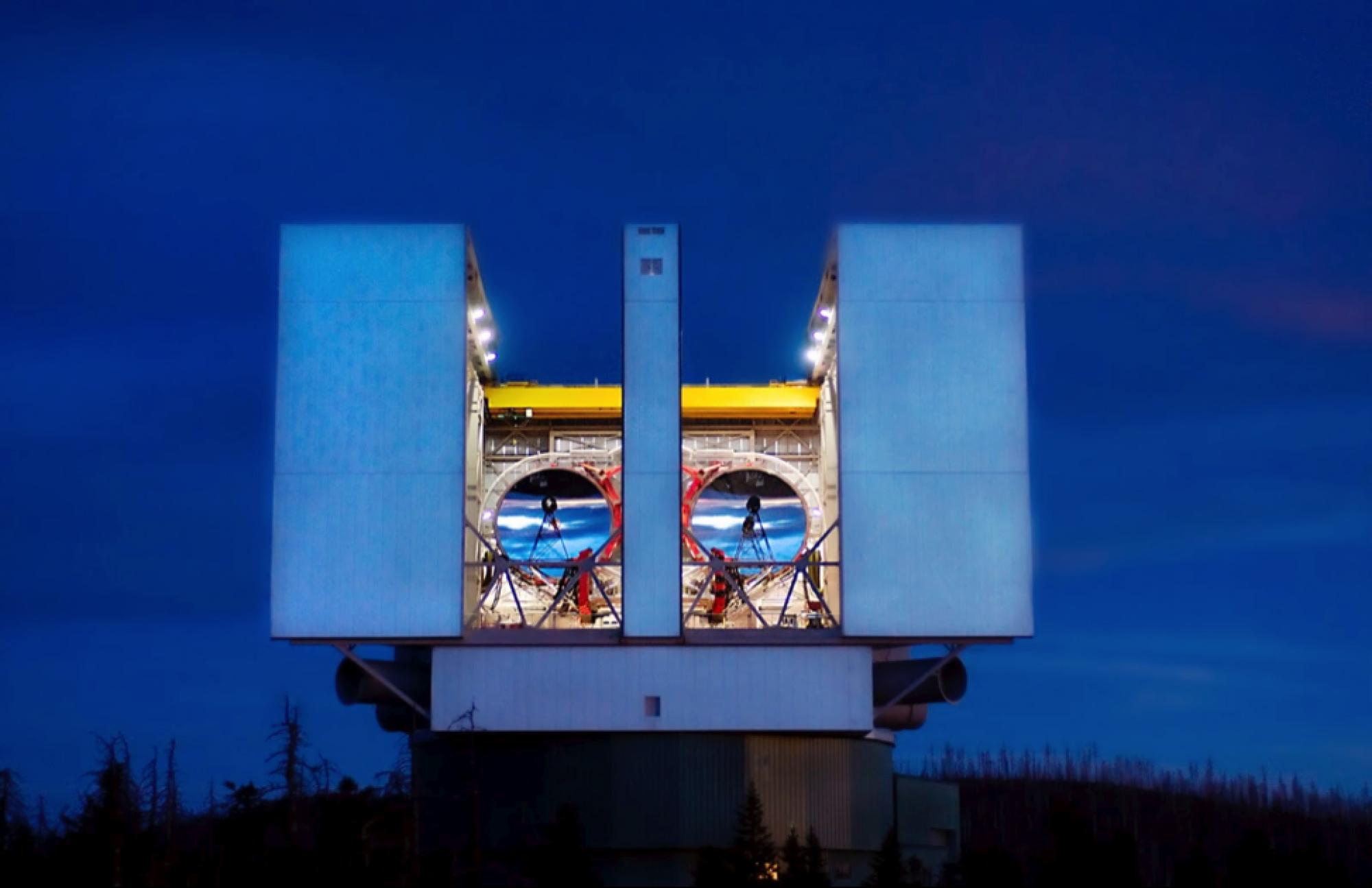 The Large Binocular Telescope, located on Mount Graham