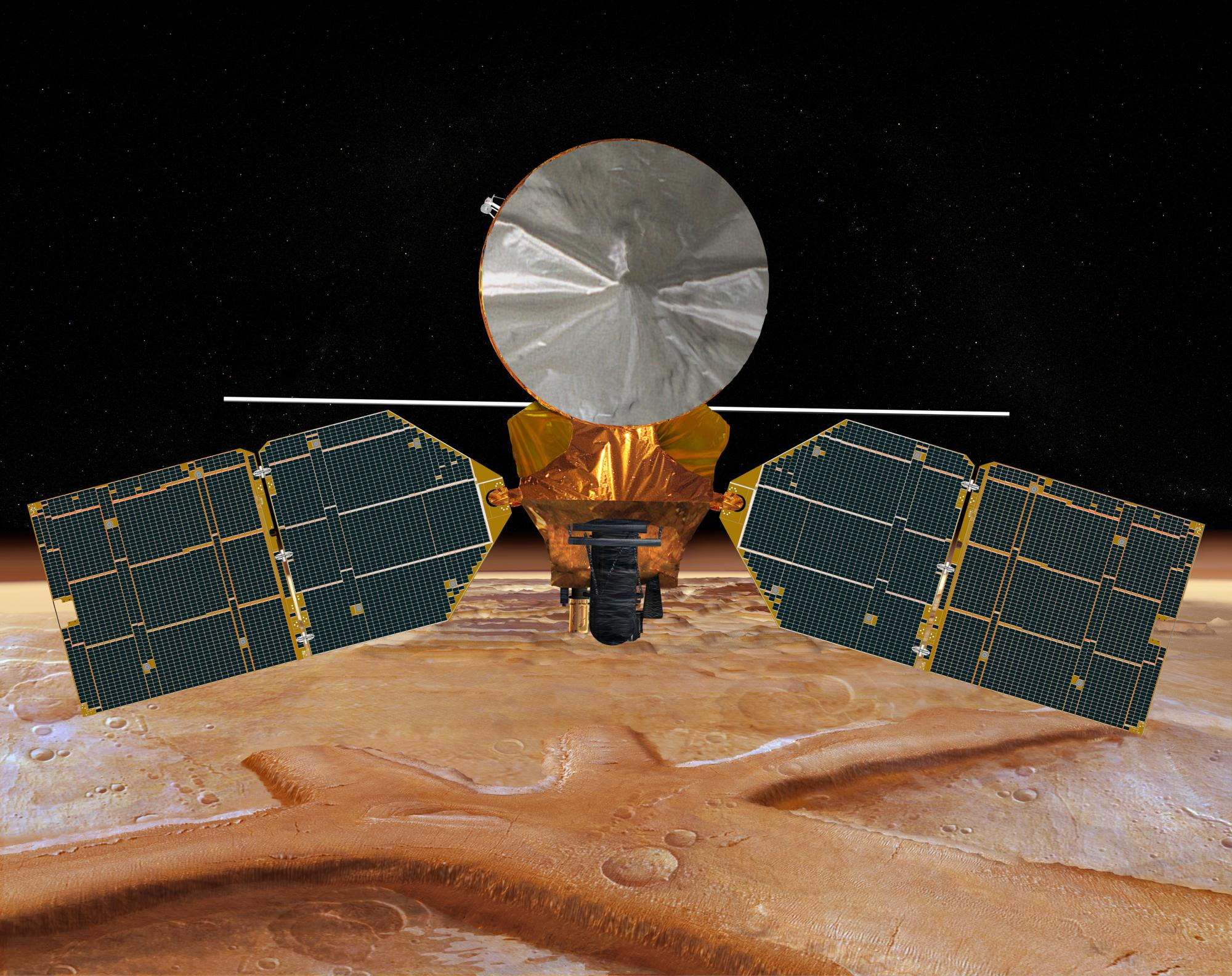The HiRISE camera aboard NASA's Mars Reconnaissance Orbiter will point toward the comet to get a snapshot of its fly-by.
