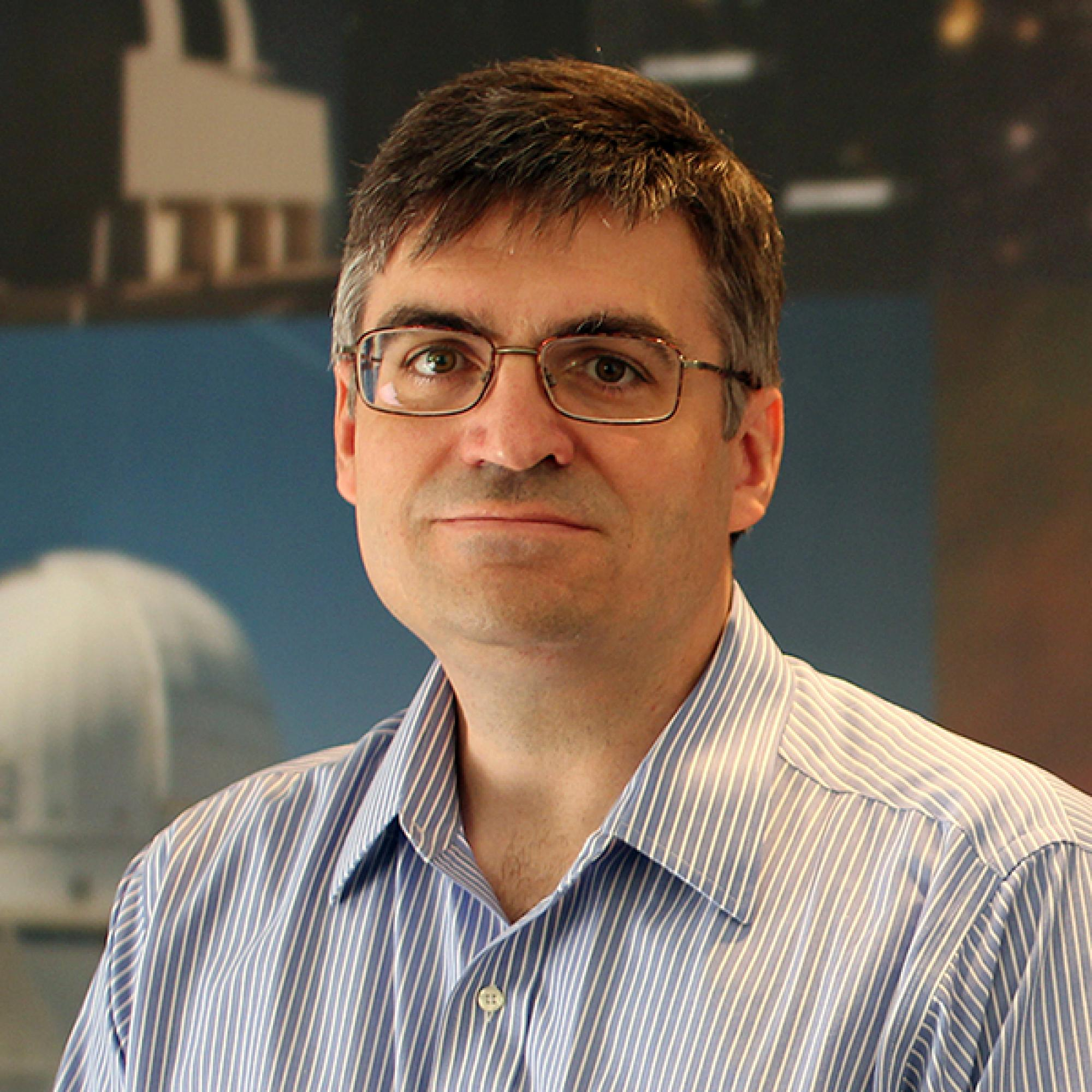 National Optical Astronomy Observatory astronomer Tom Matheson is a member of the UA-NOAO team that will develop the software to process data collected by the Large Synoptic Survey Telescope, which will survey the entire southern sky every three days for