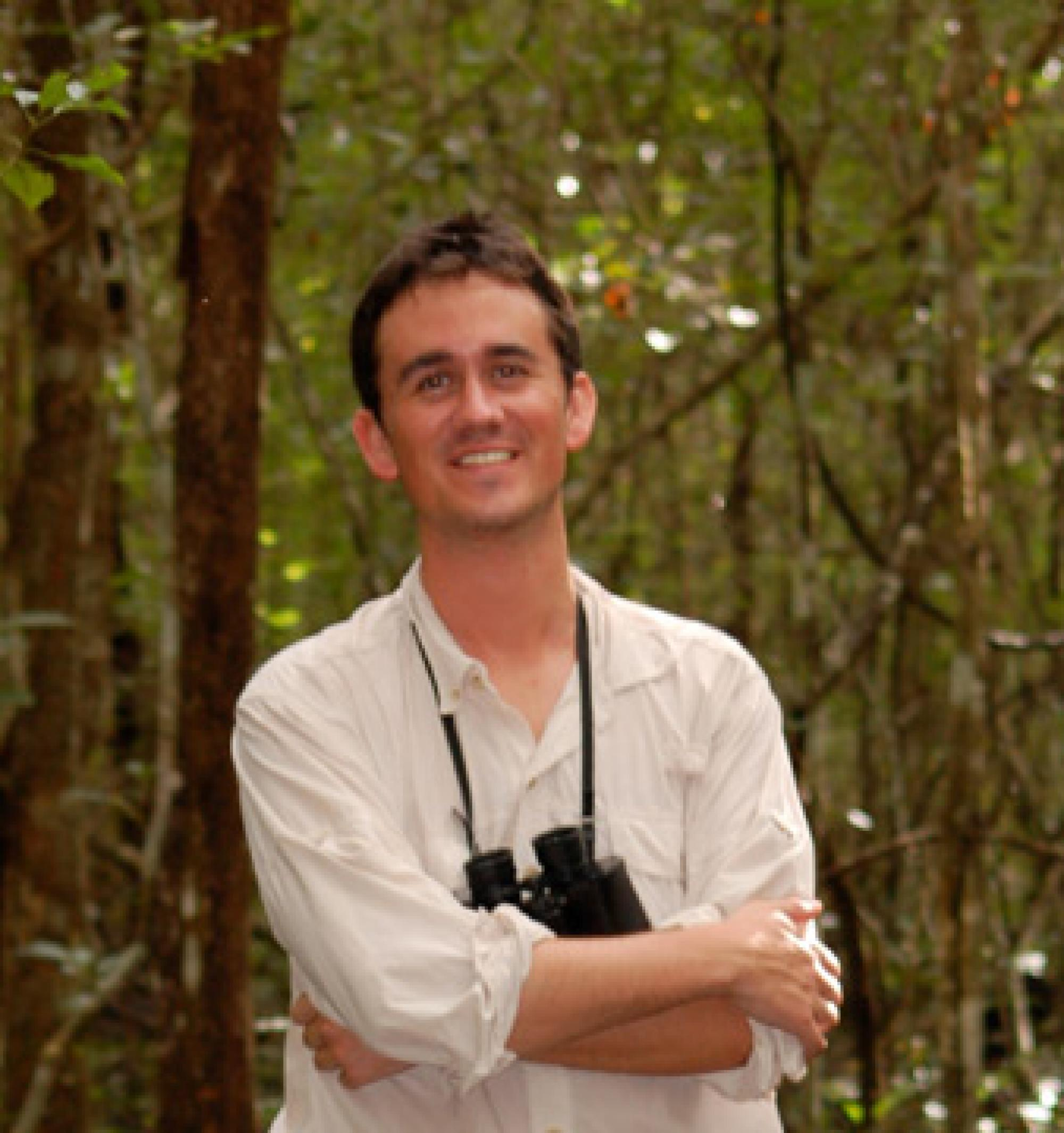 Ecologist Christopher Meehan in the field in Mexico.
