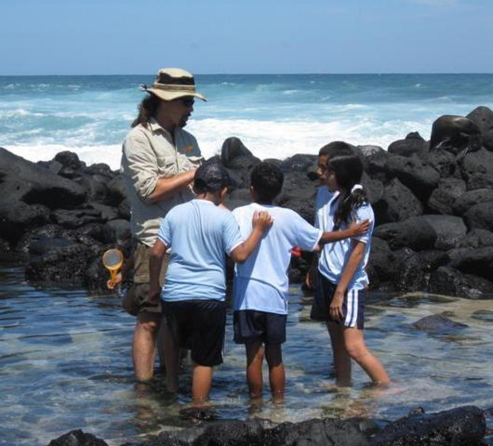 Aaron Miller was among the local educators to receive a scholarship through the UA to study and research in the Galápagos Islands.