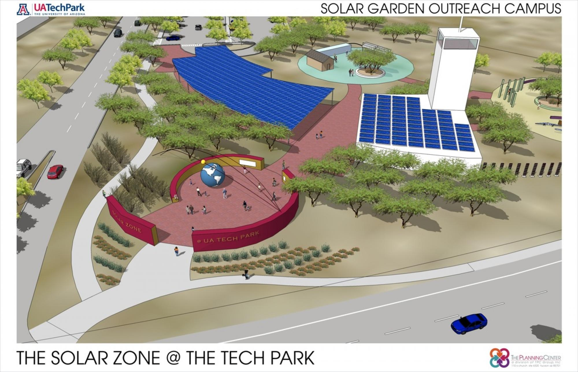 One component of the Solar Zone will be a public demonstration center where community members can visit the UA Tech Park to learn more about the site, its research and the development of products to harness solar energy.