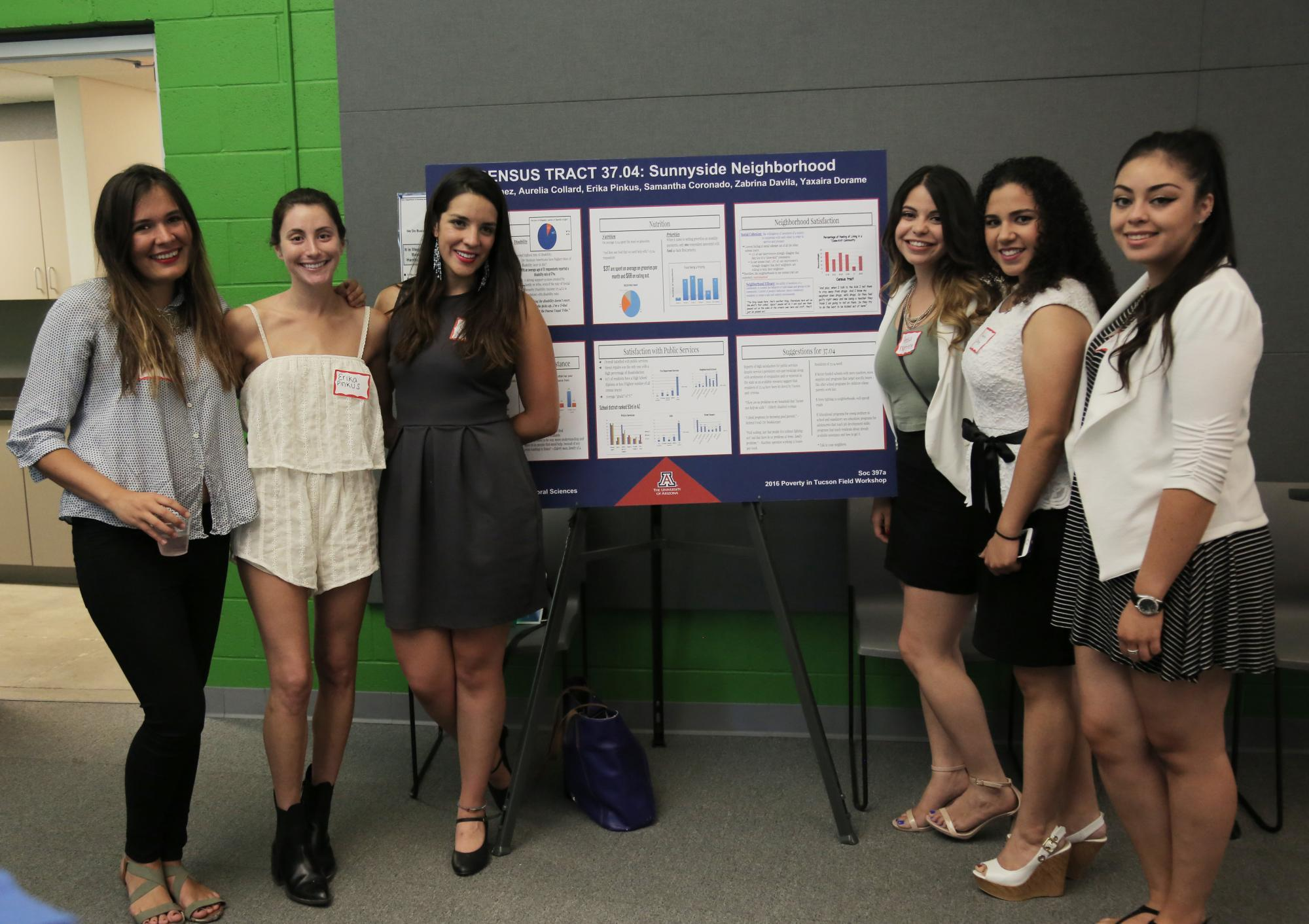 Students in the Poverty in Tucson Field Workshop recently presented their research.