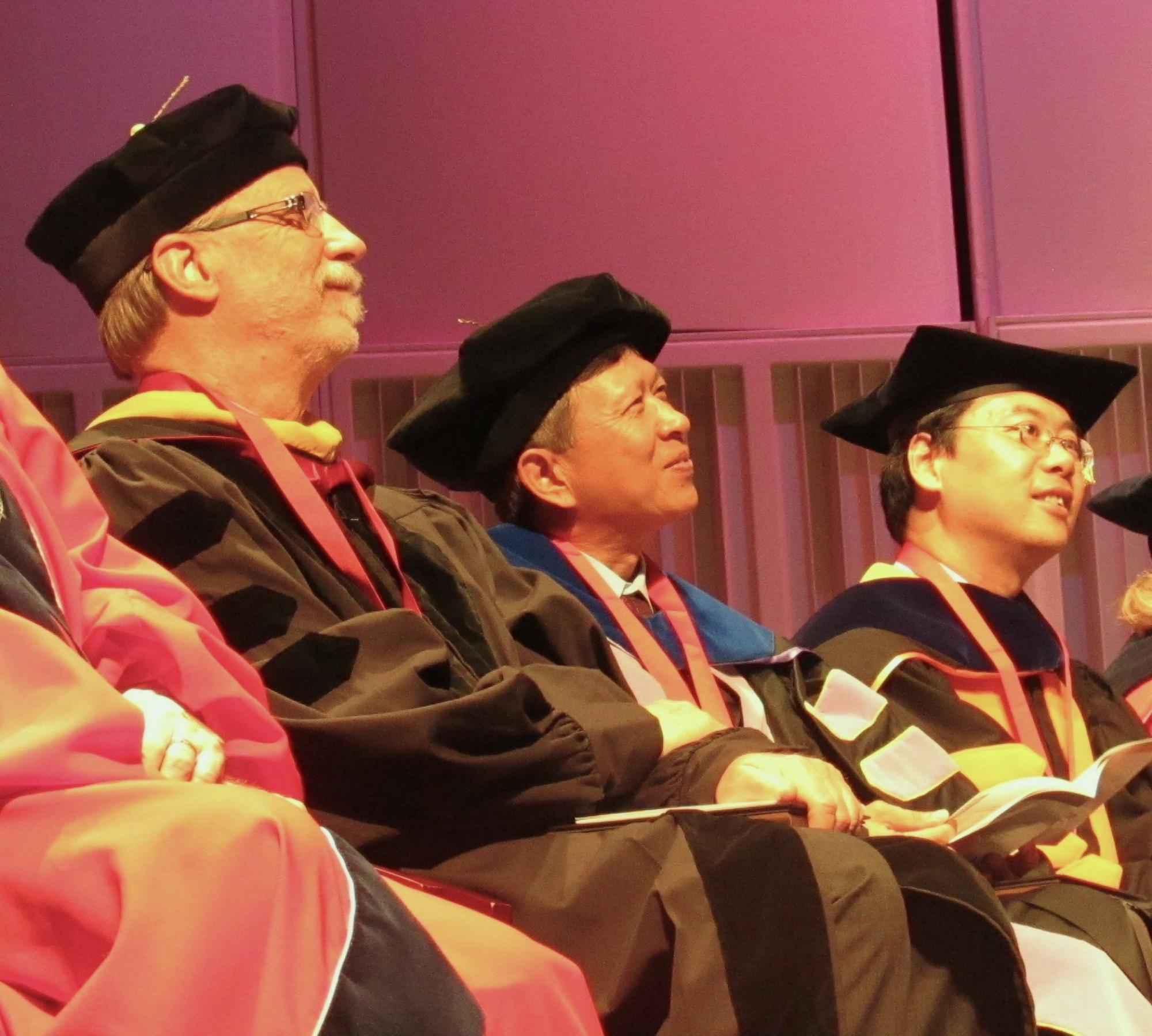 Three UA faculty members have been inducted as Regents' Professors: Neal R. Armstrong from the Department of Chemistry and Biochemistry, Hsinchun Chen from the UA Eller College of Management, and Xiaohui Fan from the Department of Astronomy.