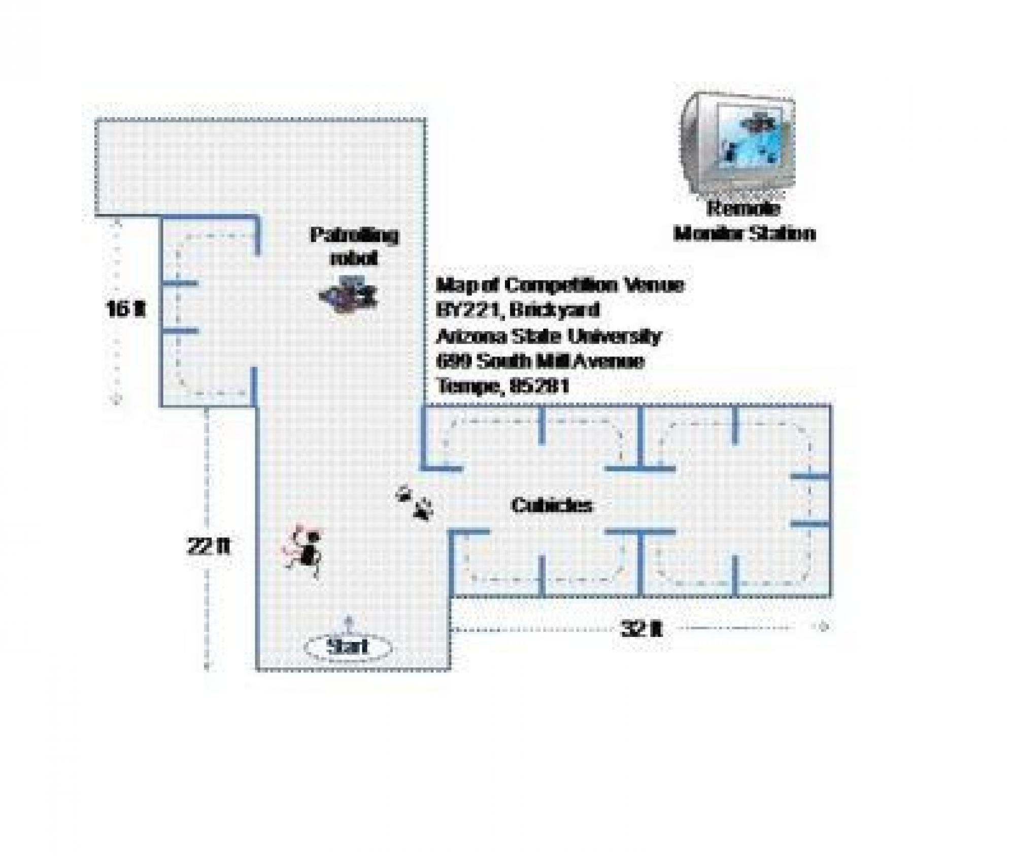 2008 Intel Robotics Challenge map of area robot must protect.