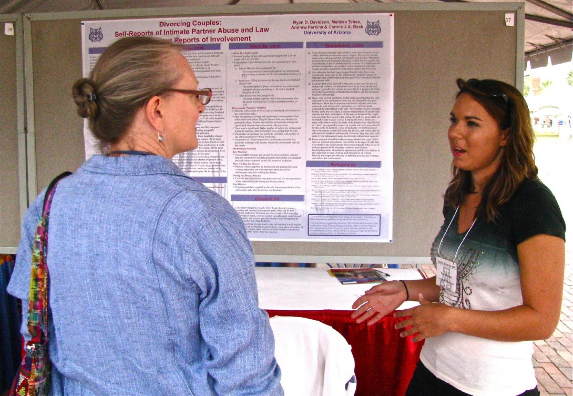 Ryan D. Davidson presents her research during the Graduate and Professional Student Council's Student Showcase.