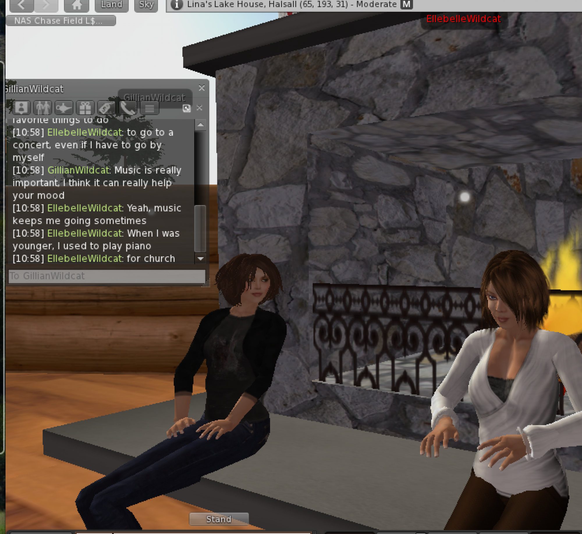 Participants chose avatars and communicated with one another through a chat program.