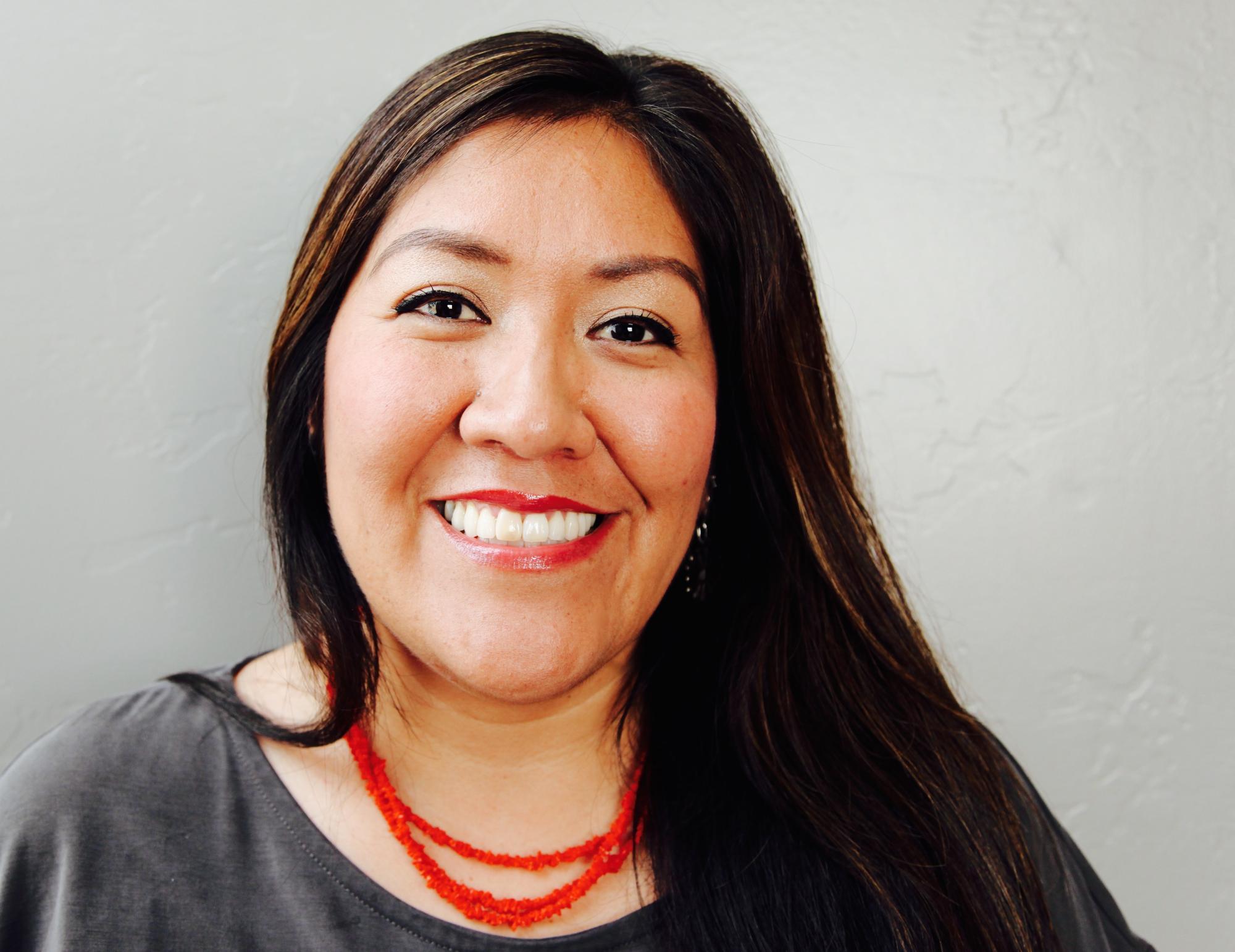 Amanda Tachine is from Ganado, Arizona. Tachine is Náneesht'ézhí Táchii'nii  born for Tl'izilani . Her maternal grandfather's clan is Tábaahí  and her paternal grandfather's clan is Ashiihi .