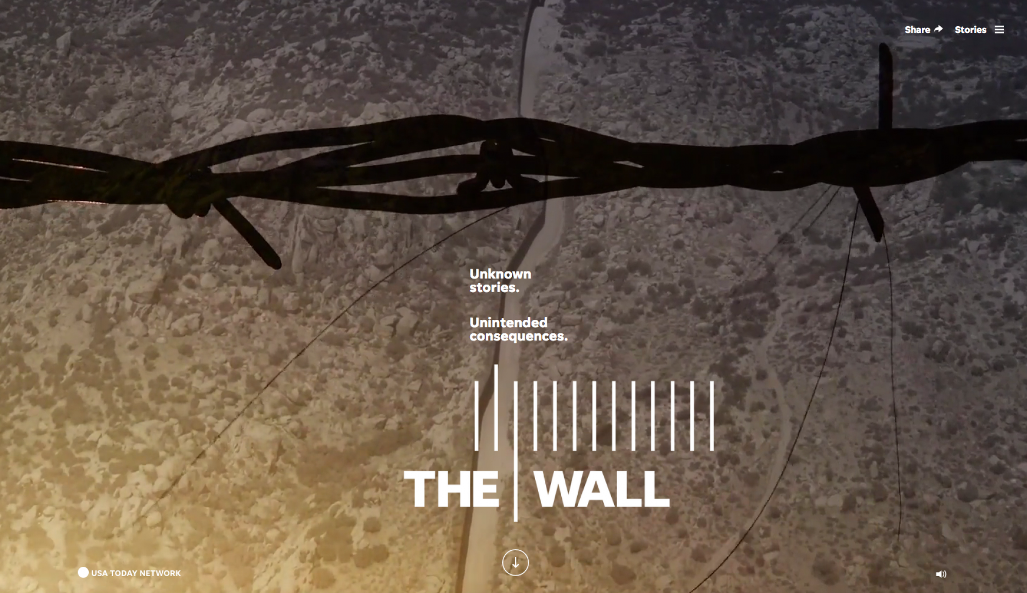 """The Wall"" won the Pulitzer Prize ""for vivid and timely reporting that masterfully combined text, video, podcasts and virtual reality to examine, from multiple perspectives, the difficulties and unintended consequences of fulfilling President Trump's pled"