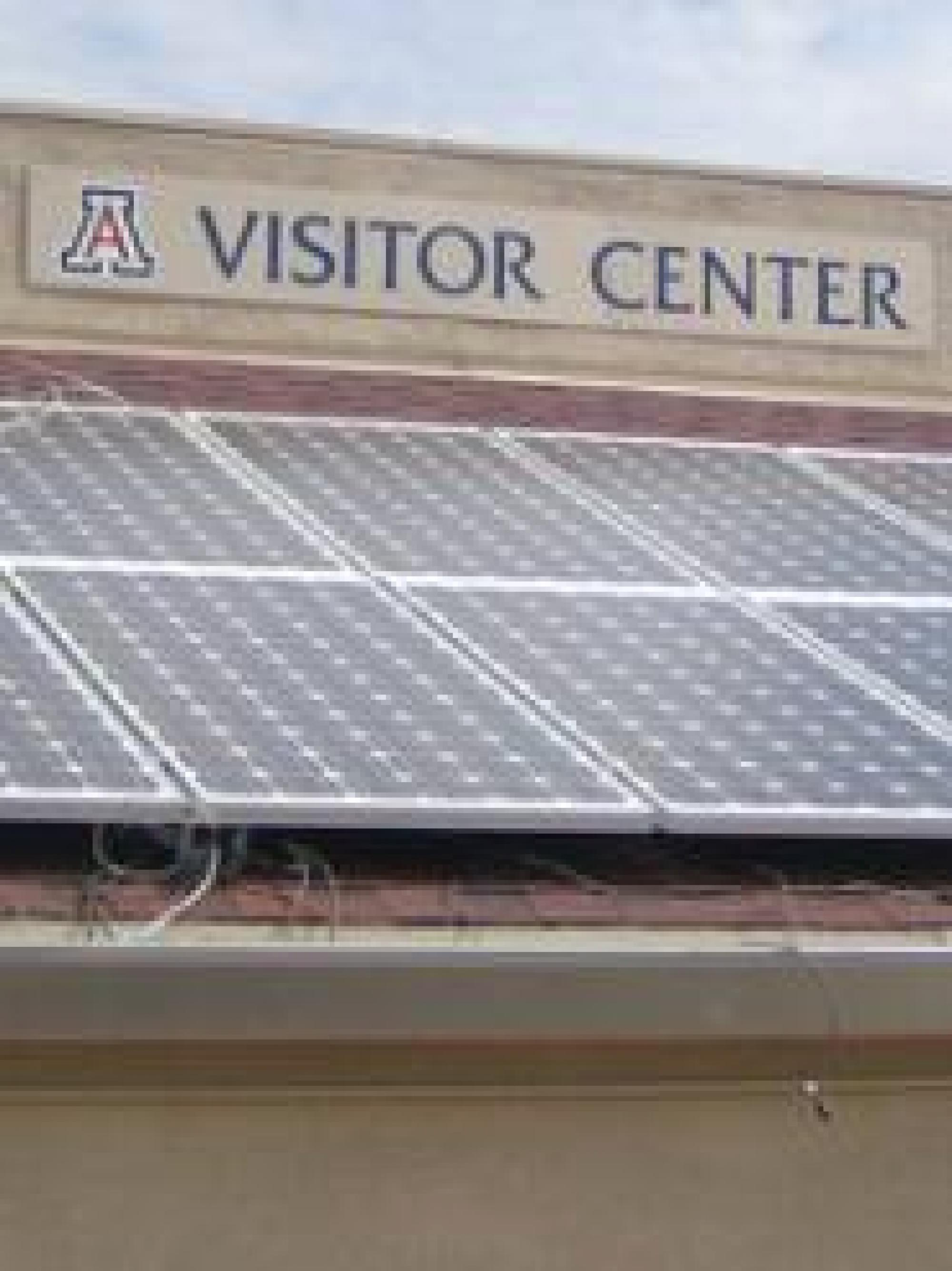 Rooftop solar panels at the UA Visitor Center