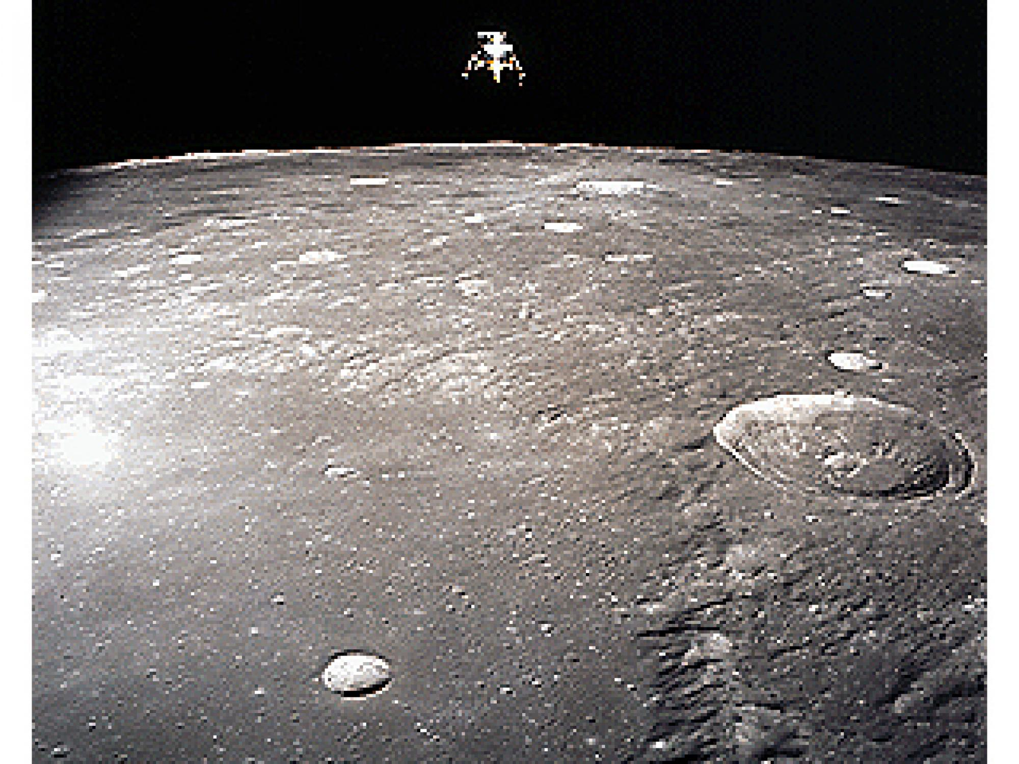 """This image of the Apollo 12 lunar module was taken from the command module during the 1969 mission. Part of an Apollo Saturn IV booster rocket may have just become Earth's 2nd """"moon."""""""