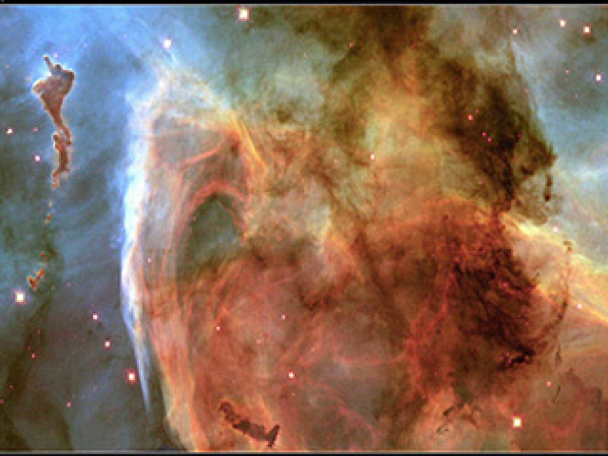 It is in dense clouds of interstellar dust, gas and ice like the Carina Nebula that new stars and planetary systems are formed.