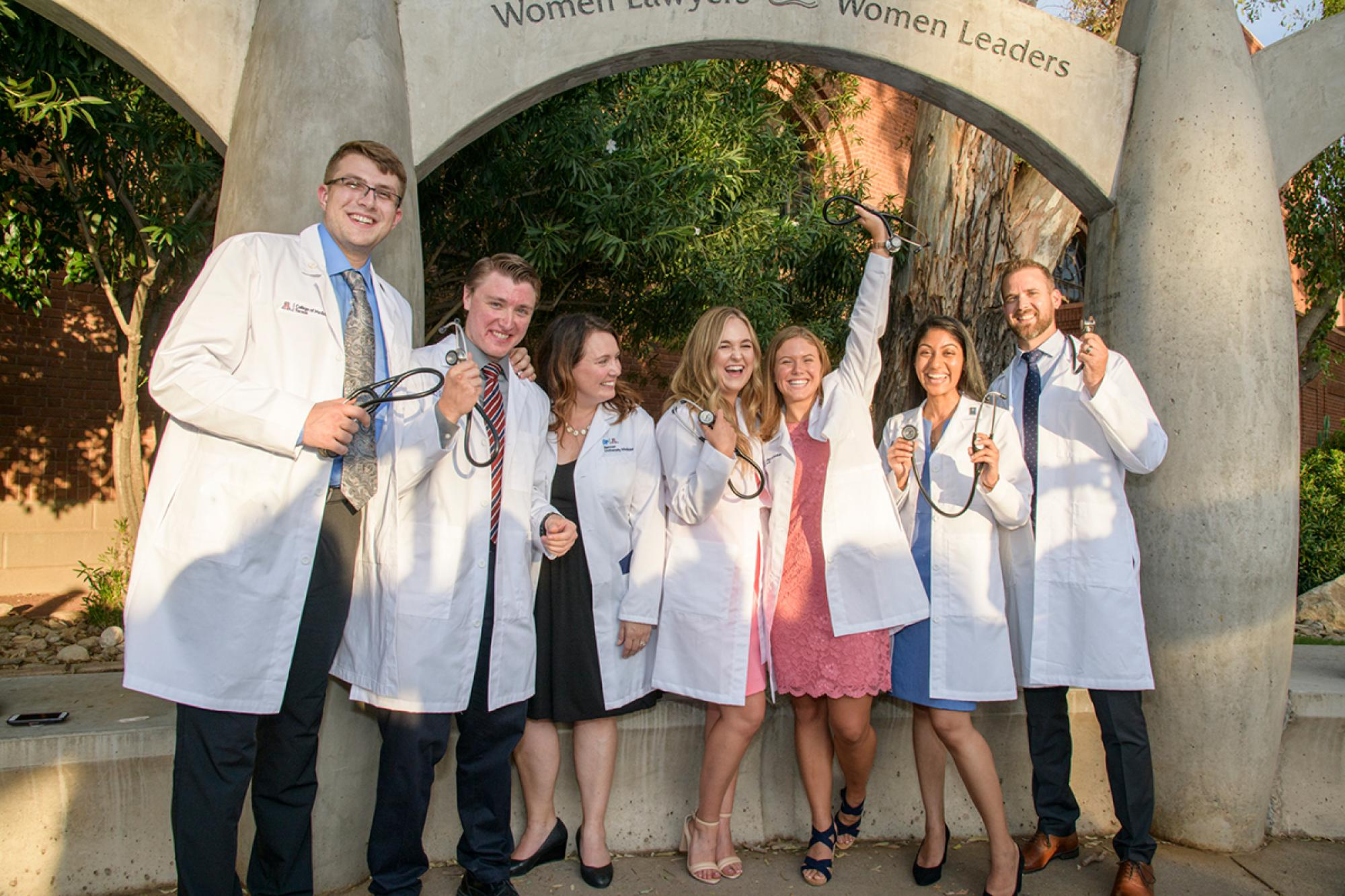 Nearly half of the College of Medicine –Tucson Class of 2023 received bachelor's or master's degrees from the UA.
