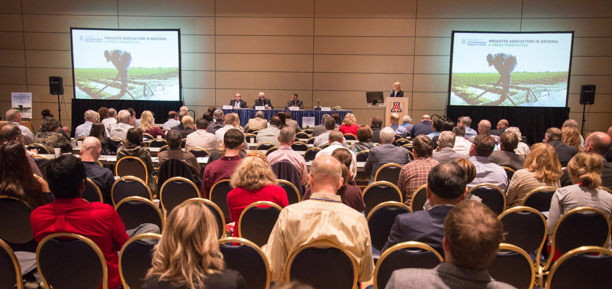 Events such as the Water Resources Research Center annual conference draw top industry speakers, as well as interested spectators from the UA and Tucson communities.