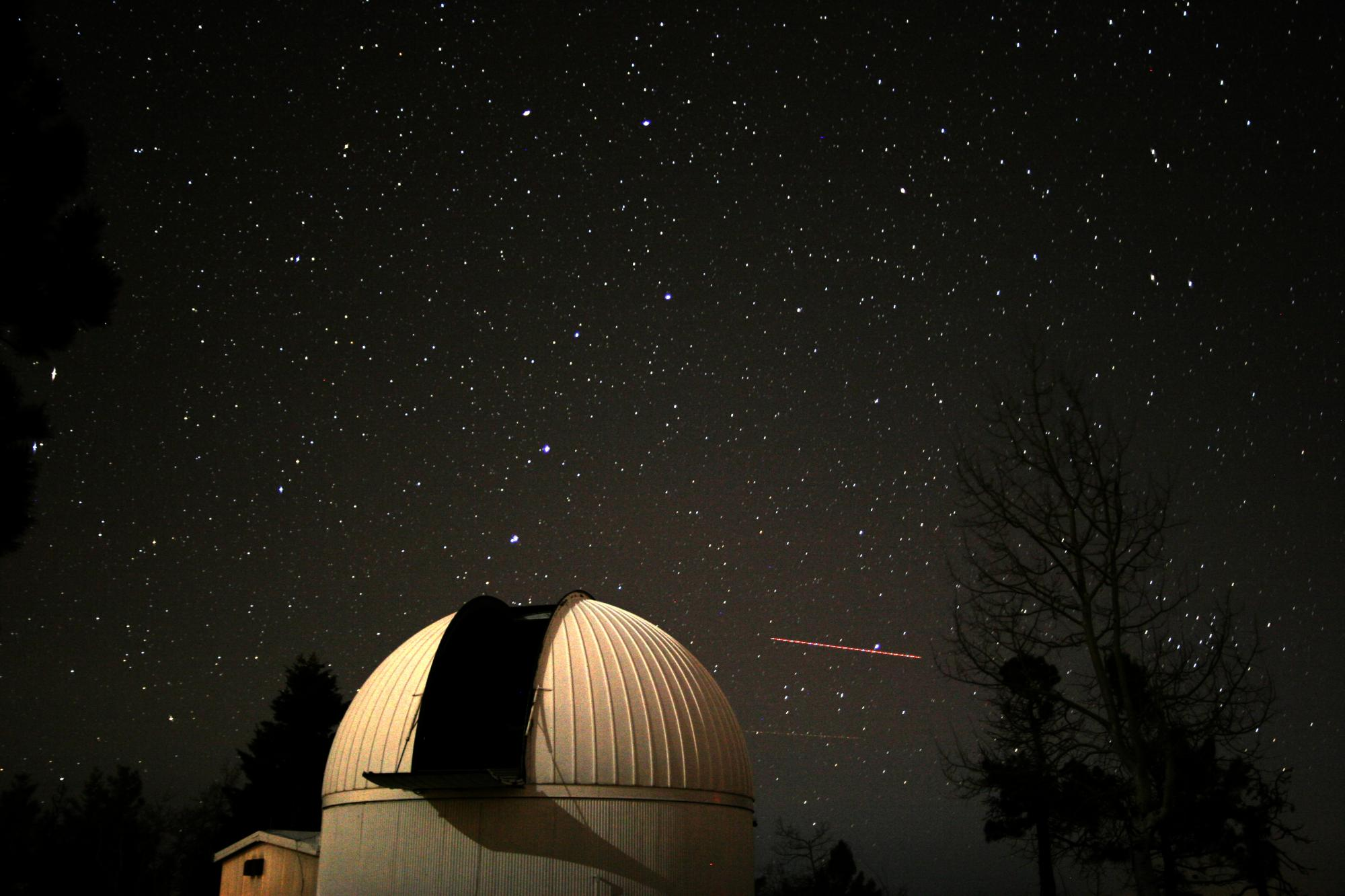 The Catalina Sky Survey 60-inch telescope atop Mt. Lemmon.