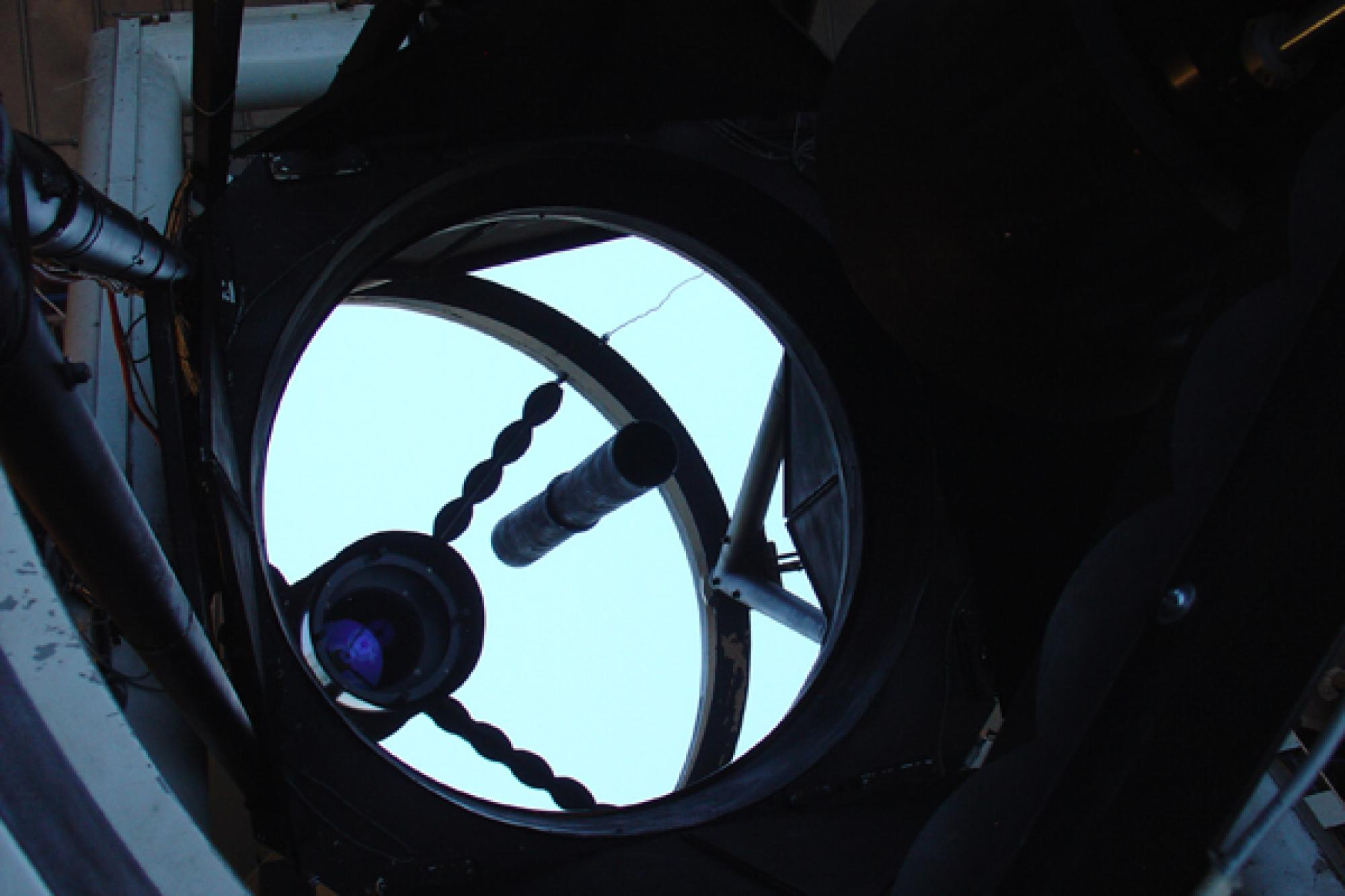 "The ""eye"" of the 60-inch telescope used in the Catalina Sky Survey on Mount Lemmon."