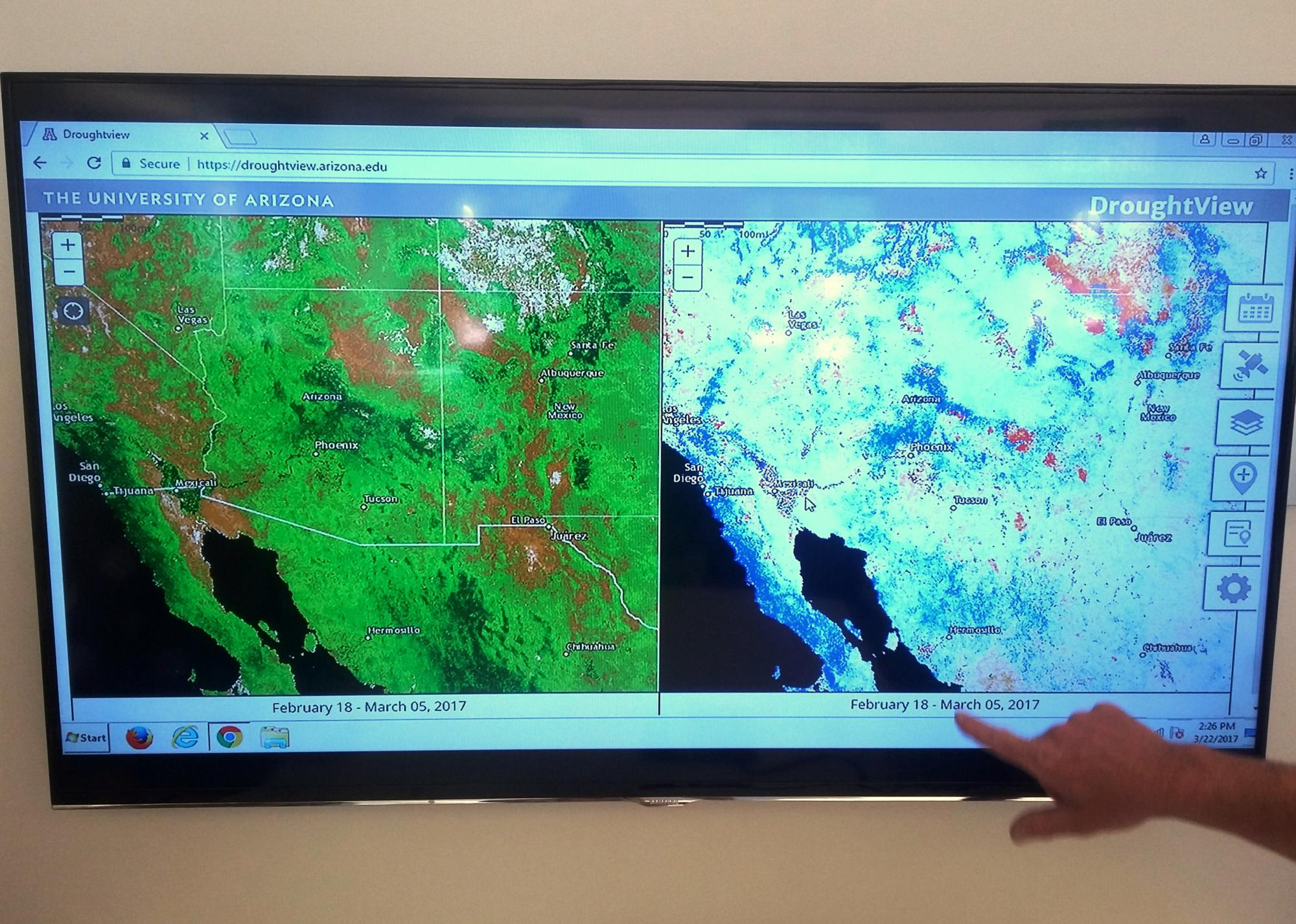 A drought impact group, environmental scientists, plant geographers, federal and state land management agents, ranchers and others already have begun to use DroughtView.