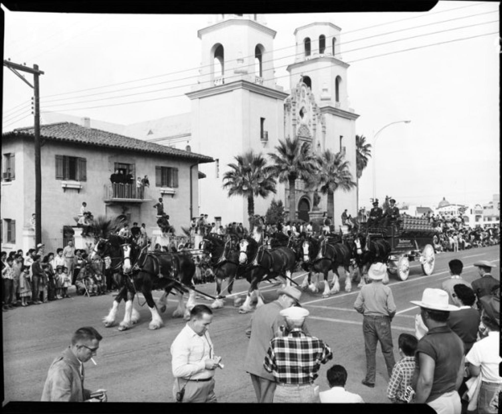 Jack Sheaffer photographed the rodeo and rodeo parades in Tucson during the 1950s and 1960s.