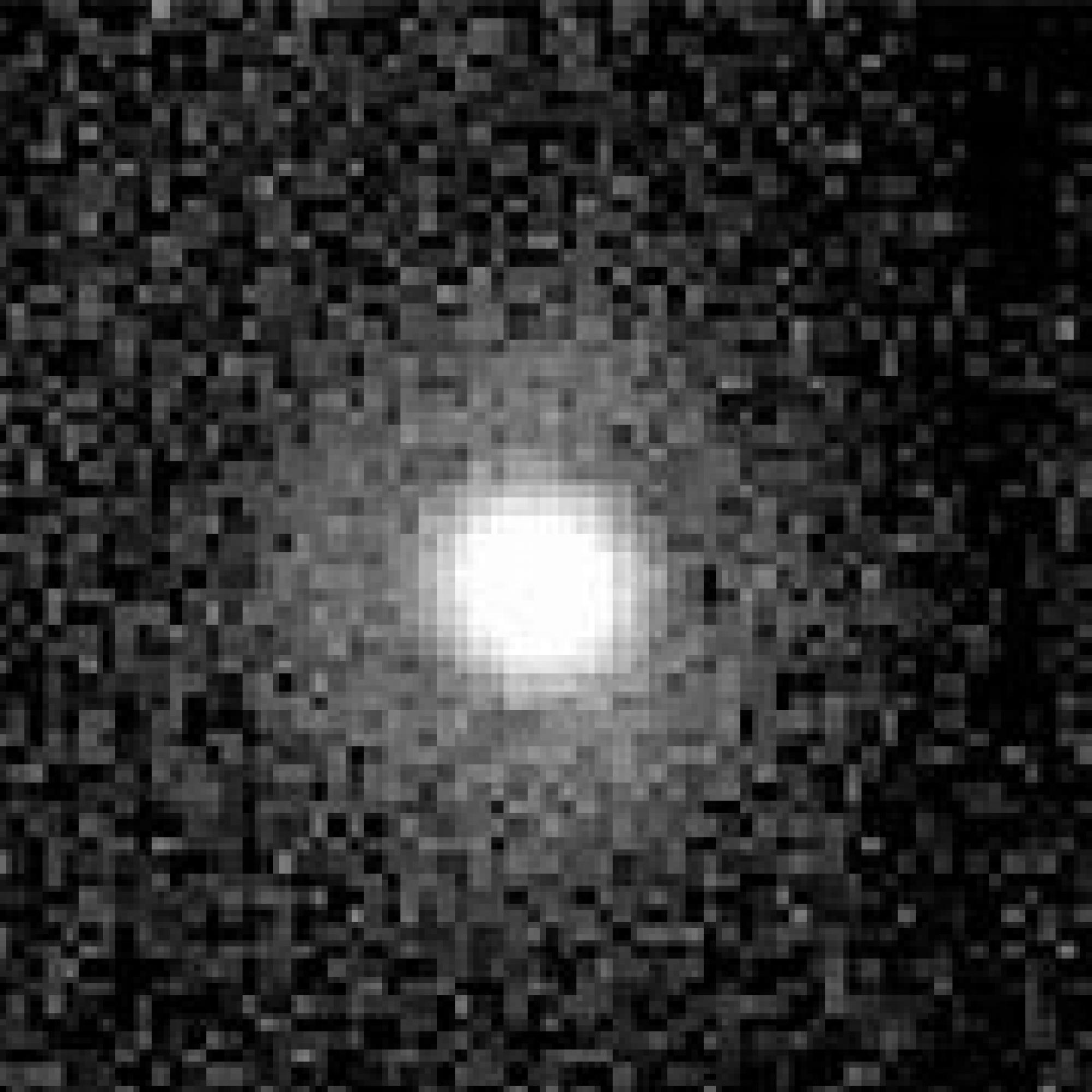 Star HD 100546, photographed at infrared wavelengths.