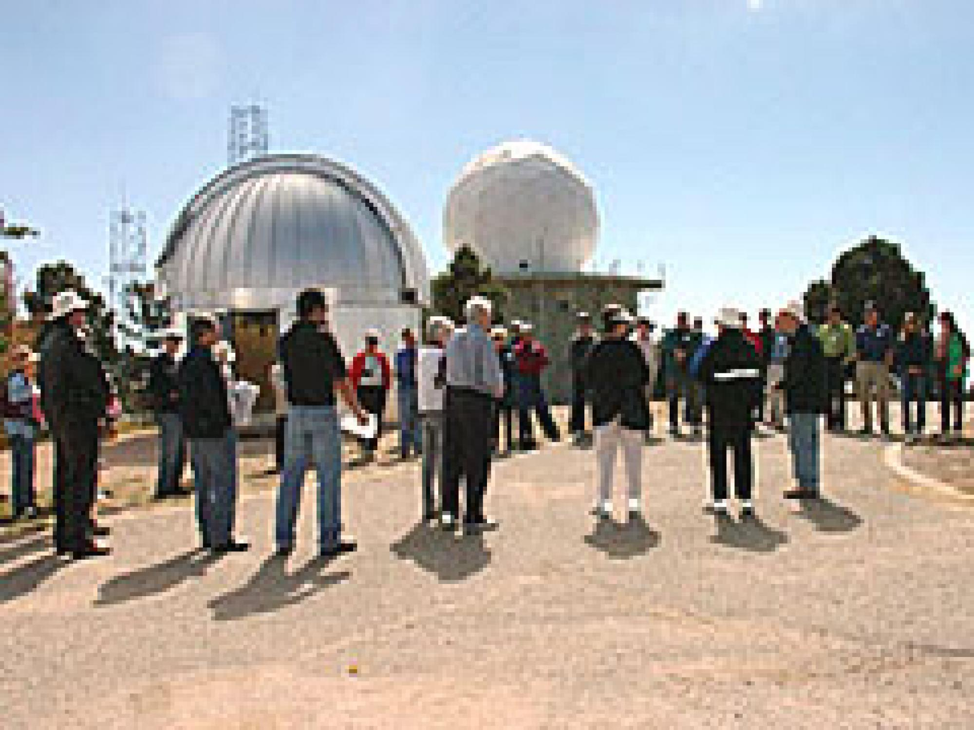 UA astronomers, Jamieson family members and friends from Orcas Island, Washington, gathered at the Mount Lemmon summit for dedication ceremonies Oct. 29.
